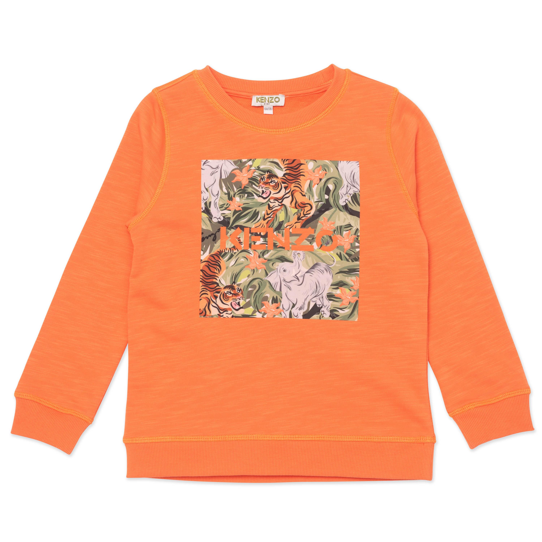 Sweatshirt à sérigraphie KENZO KIDS pour GARCON