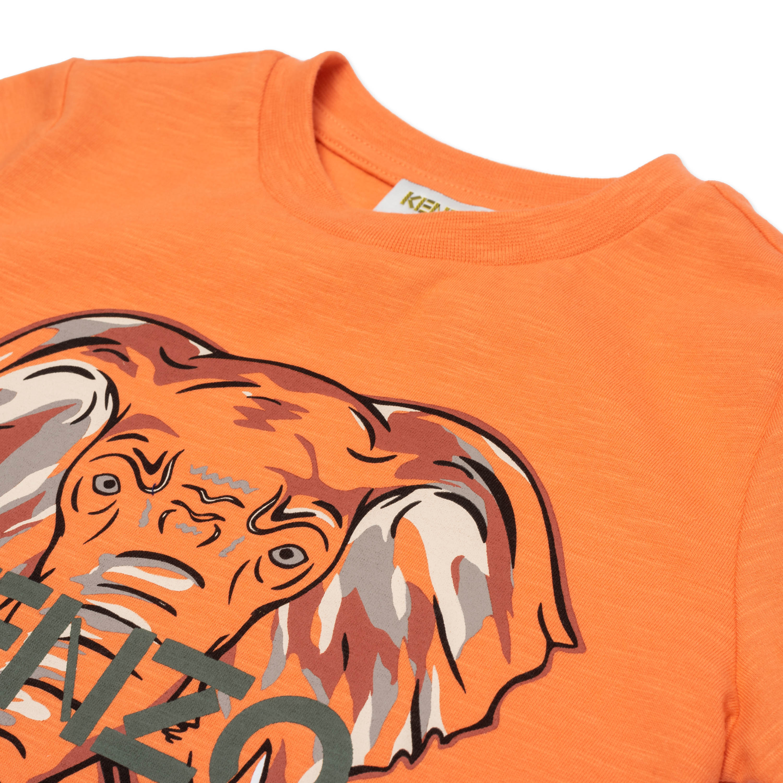 T-shirt en coton avec imprimé KENZO KIDS pour GARCON