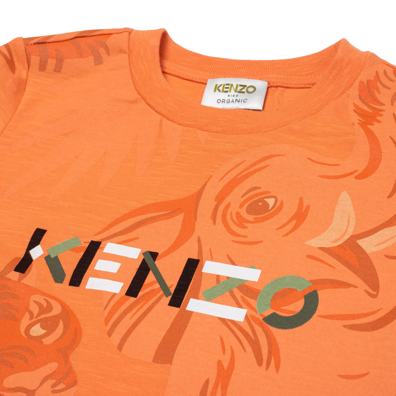 T-shirt en coton imprimé KENZO KIDS pour GARCON