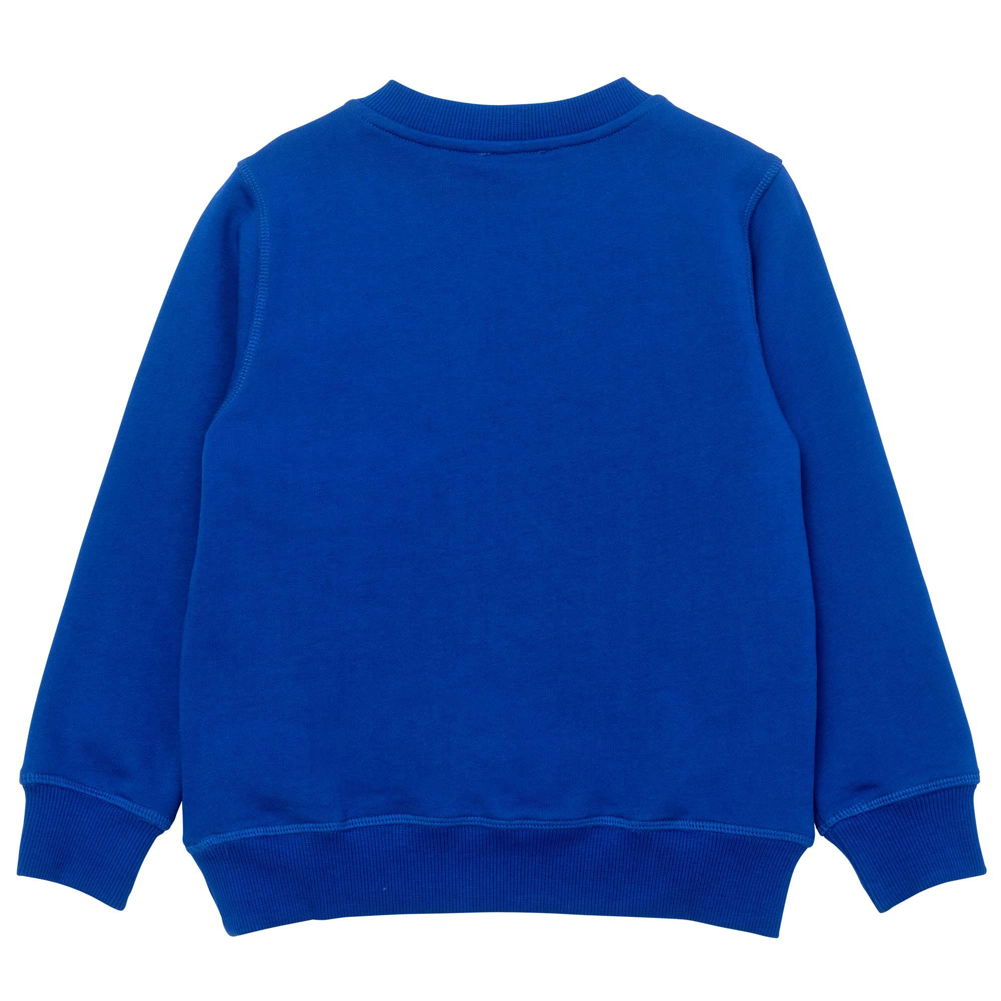 Silkscreened fleece sweatshirt KENZO KIDS for BOY