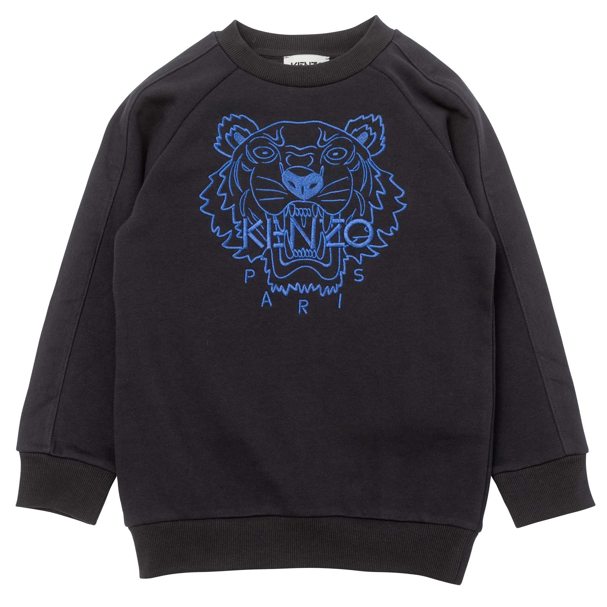 Embroidered fleece sweatshirt KENZO KIDS for BOY