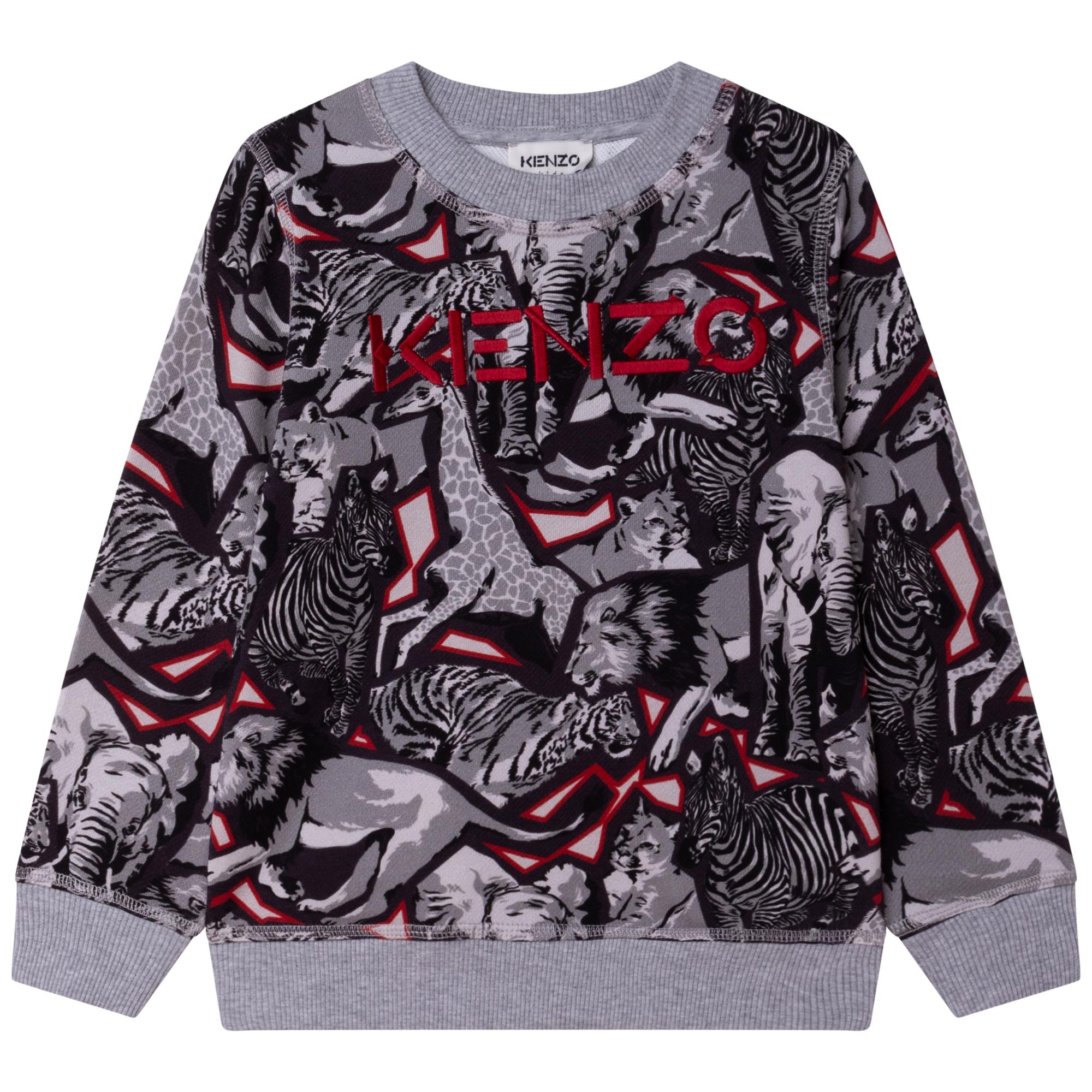 Savannah-print fleece sweatshirt KENZO KIDS for BOY
