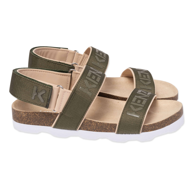 Sandales crantées à scratchs KENZO KIDS pour GARCON