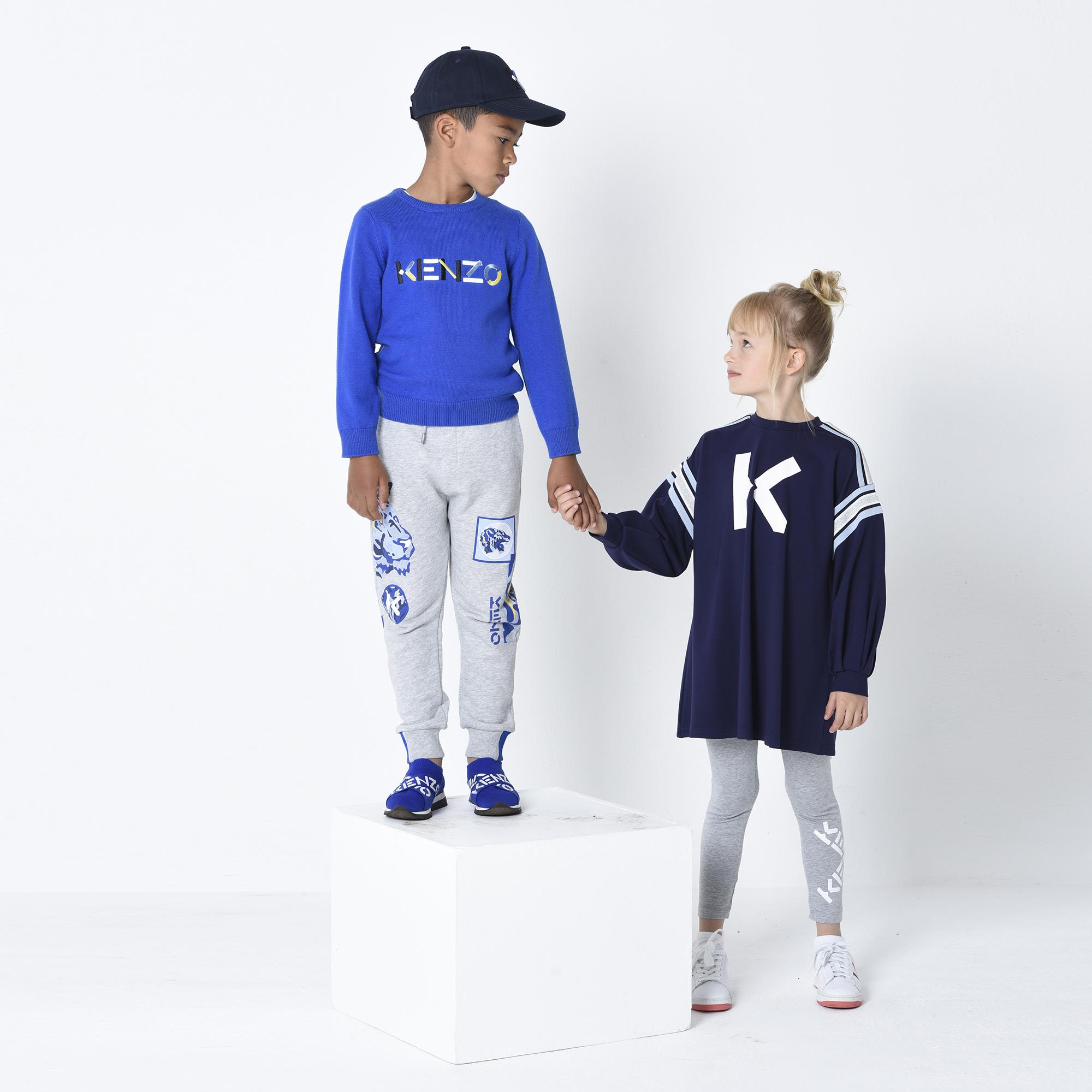 Casquette en coton avec logo KENZO KIDS pour UNISEXE