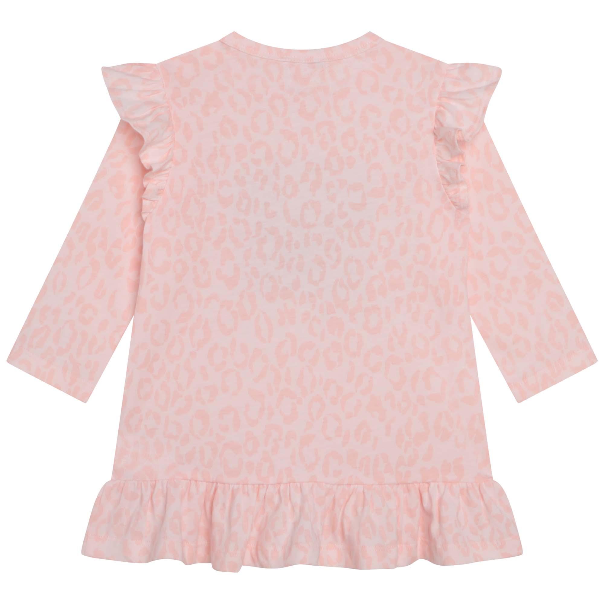 Organic cotton tricot sweater dress KENZO KIDS for GIRL