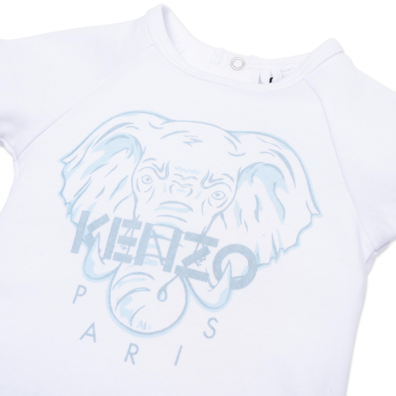 Combinaison courte en coton biologique KENZO KIDS pour GARCON