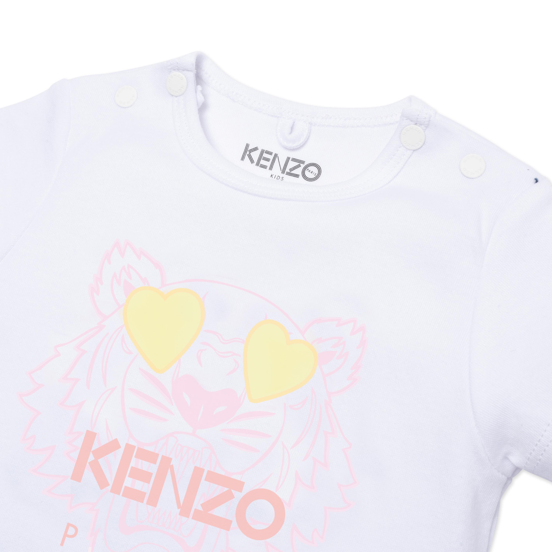 Heart-eye tiger print T-shirt KENZO KIDS for GIRL