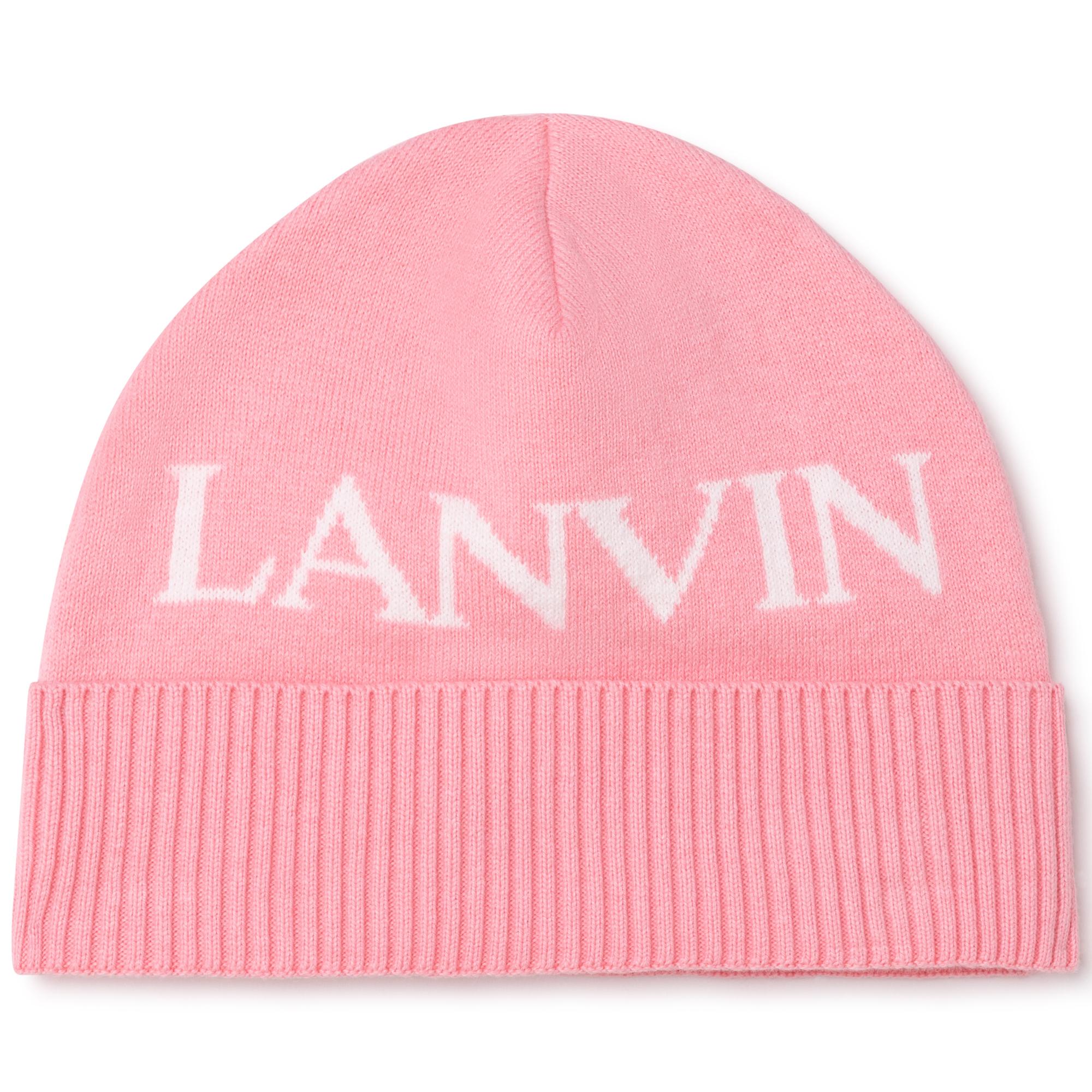 Bonnet tricoté coton et laine LANVIN pour FILLE