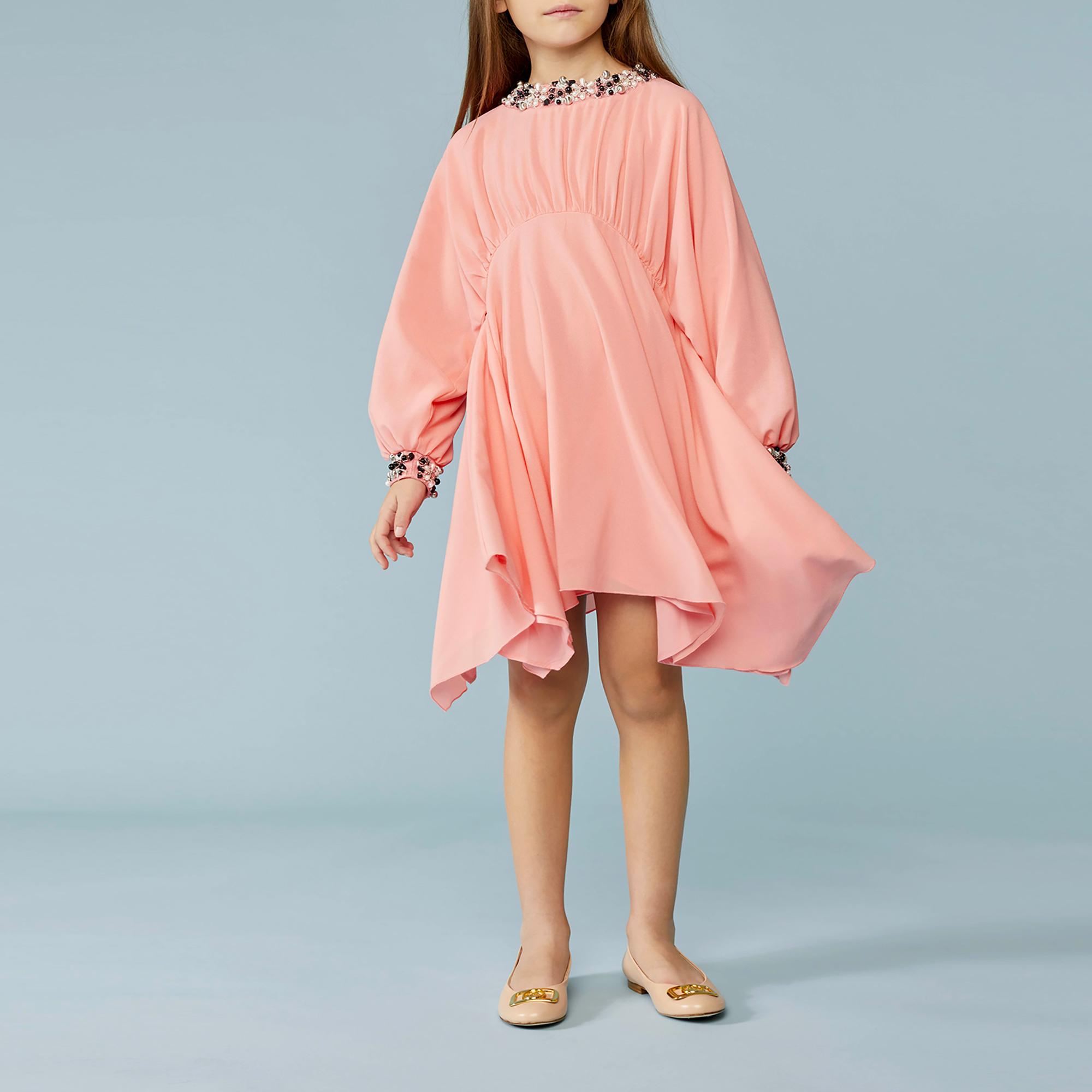 Robe de cérémonie en crêpe LANVIN pour FILLE