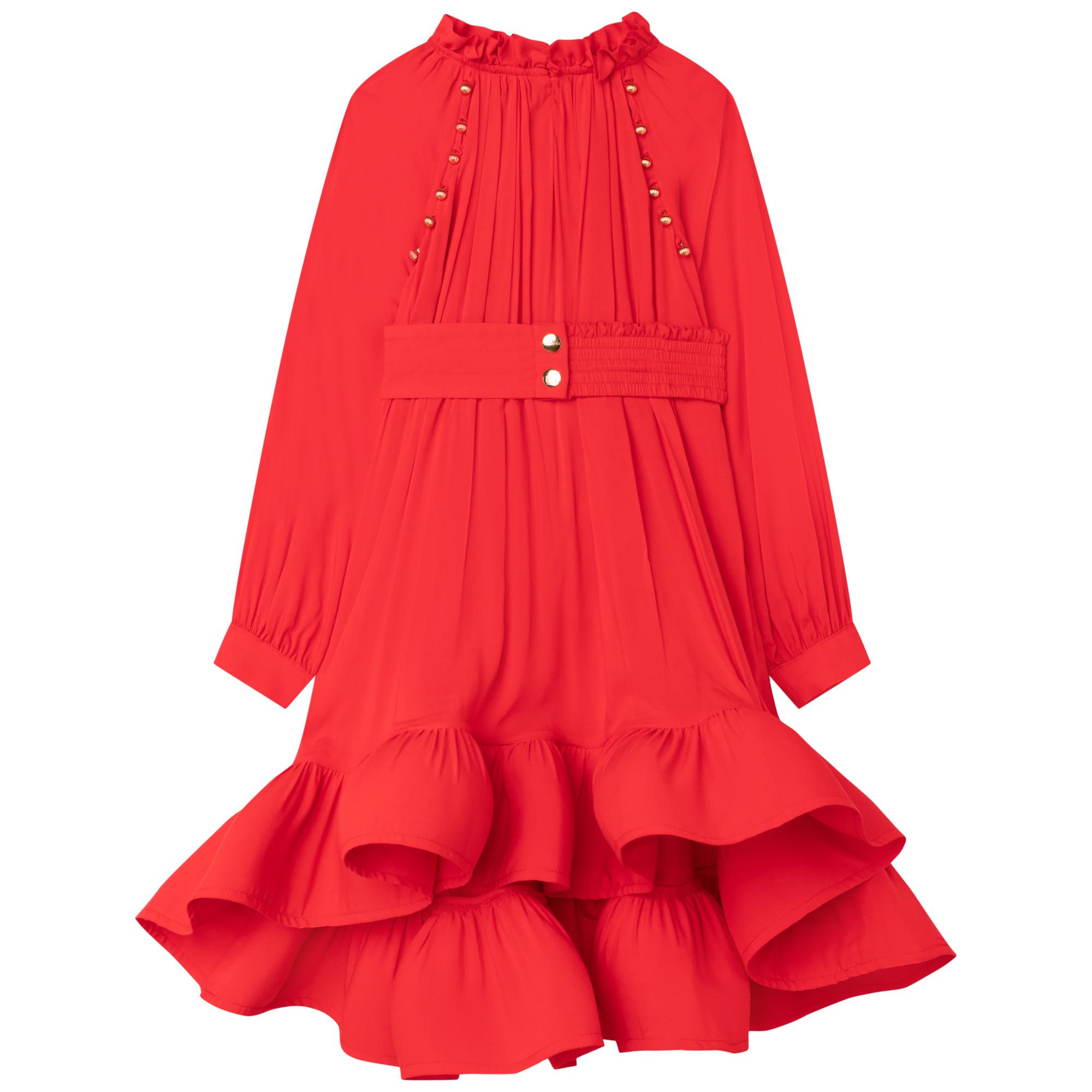 Ruffled formal dress LANVIN for GIRL