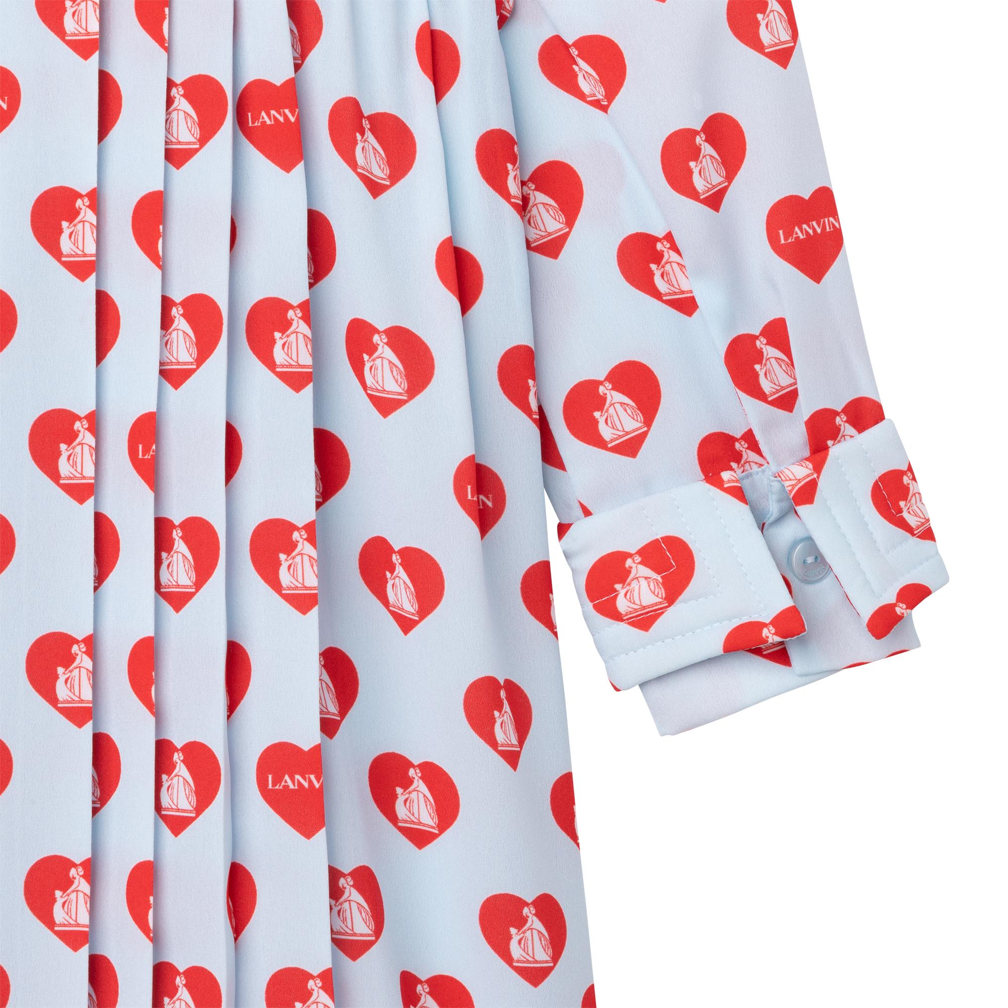 Robe chemise plissée imprimée LANVIN pour FILLE