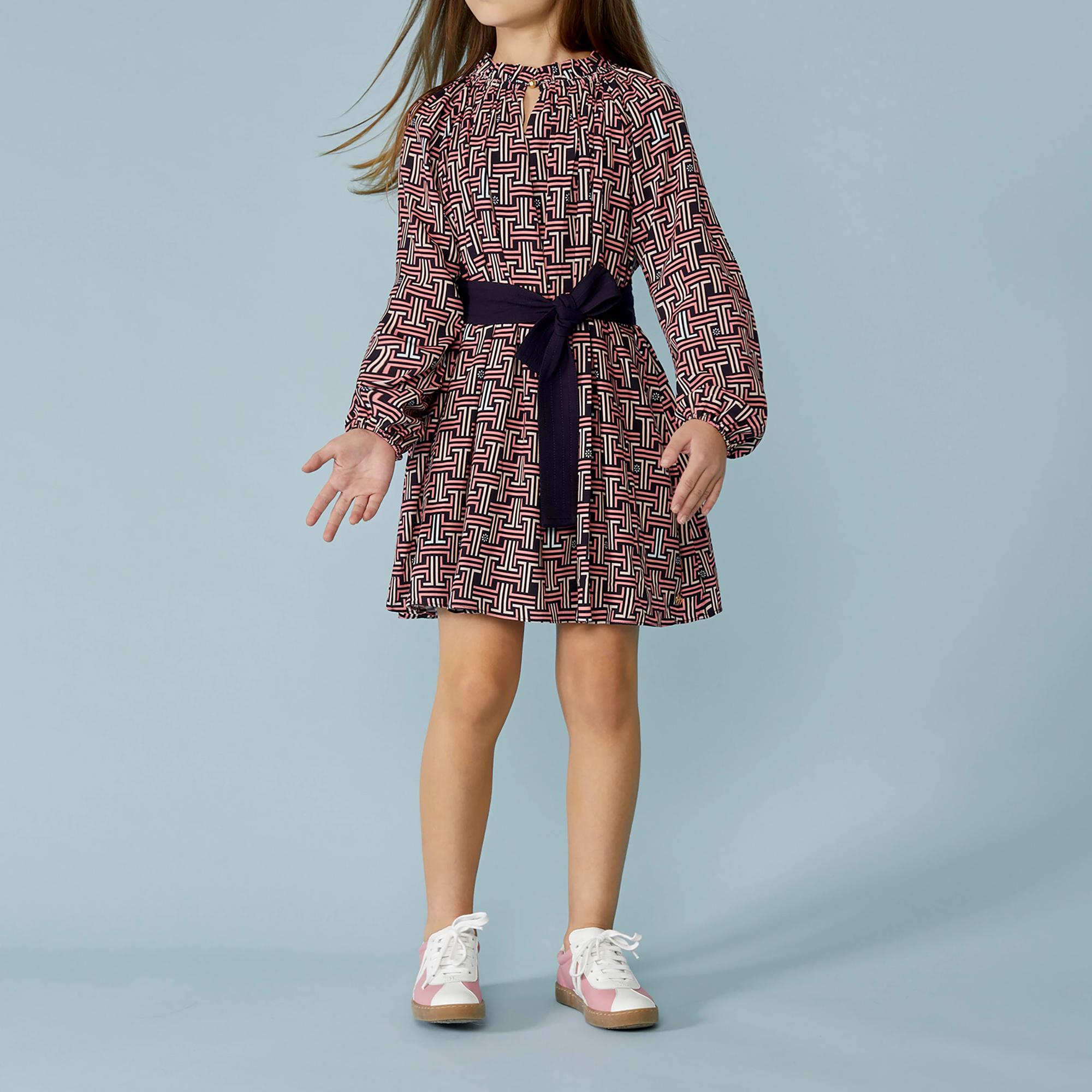Long-sleeved print dress LANVIN for GIRL
