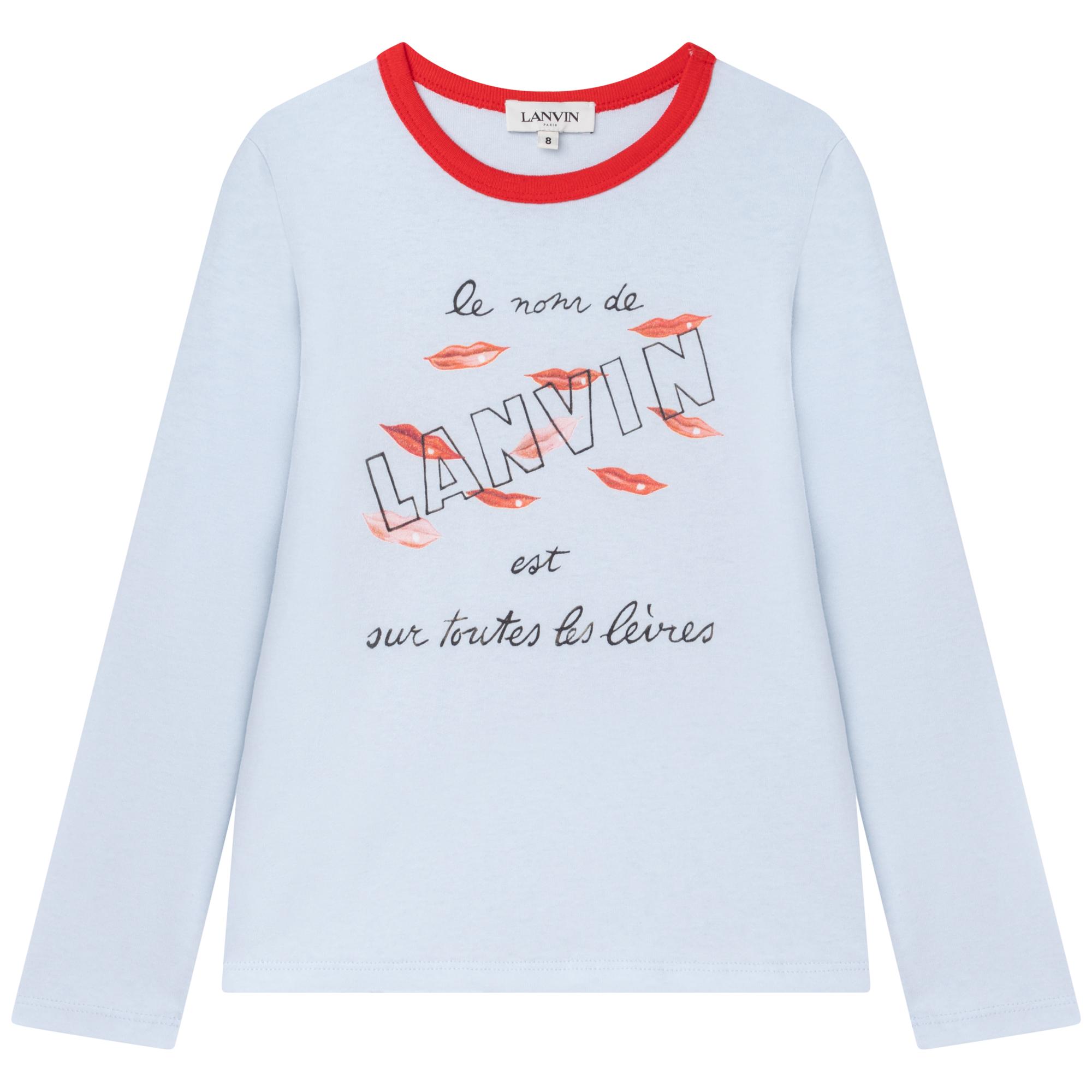 T-shirt en jersey LANVIN pour FILLE