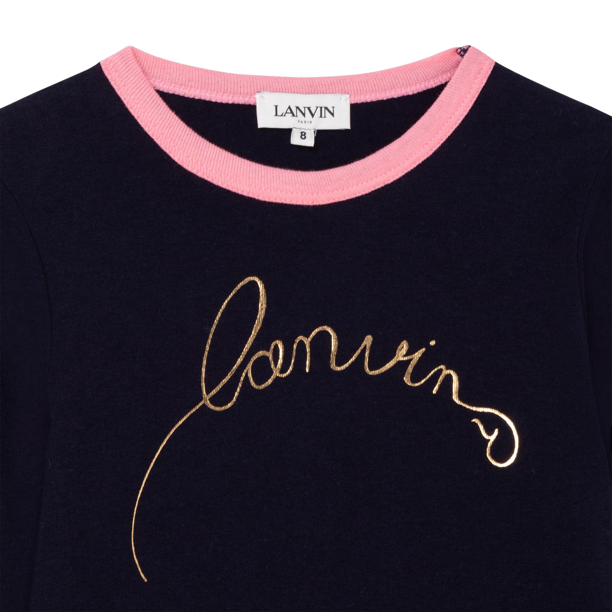 T-shirt manches longues jersey LANVIN pour FILLE