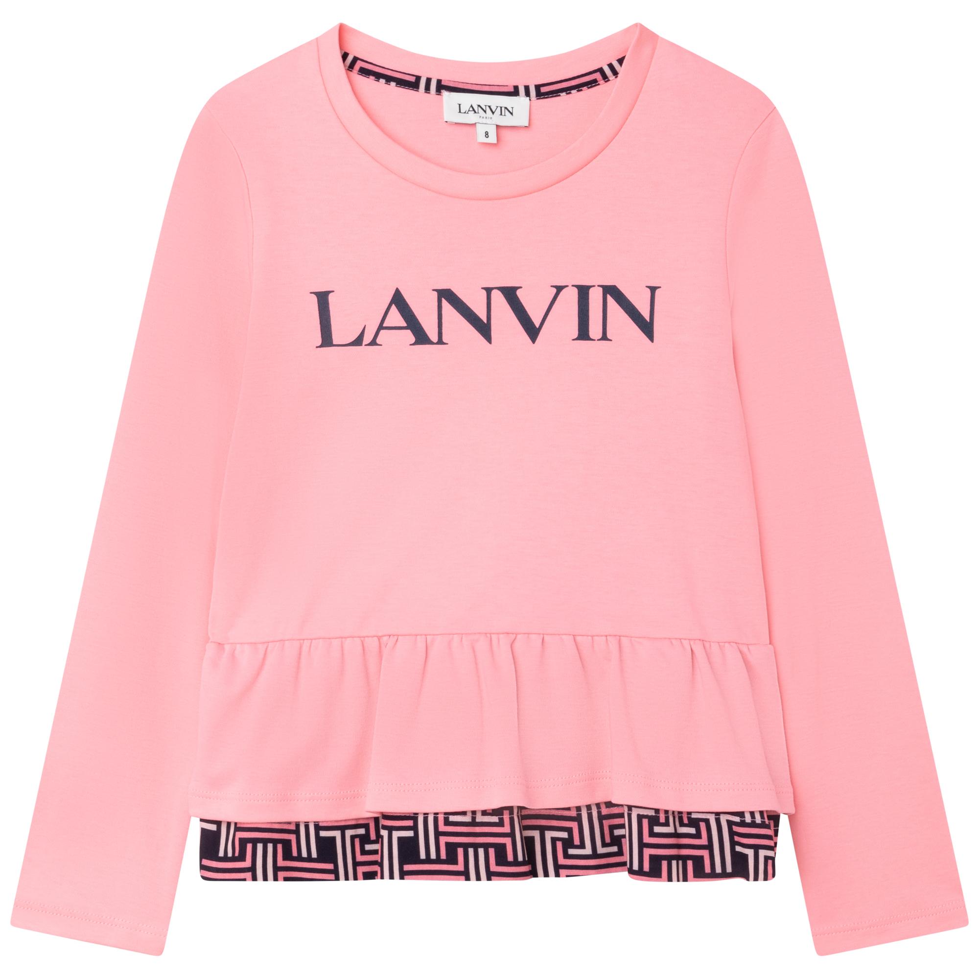 T-shirt volanté en interlock LANVIN pour FILLE