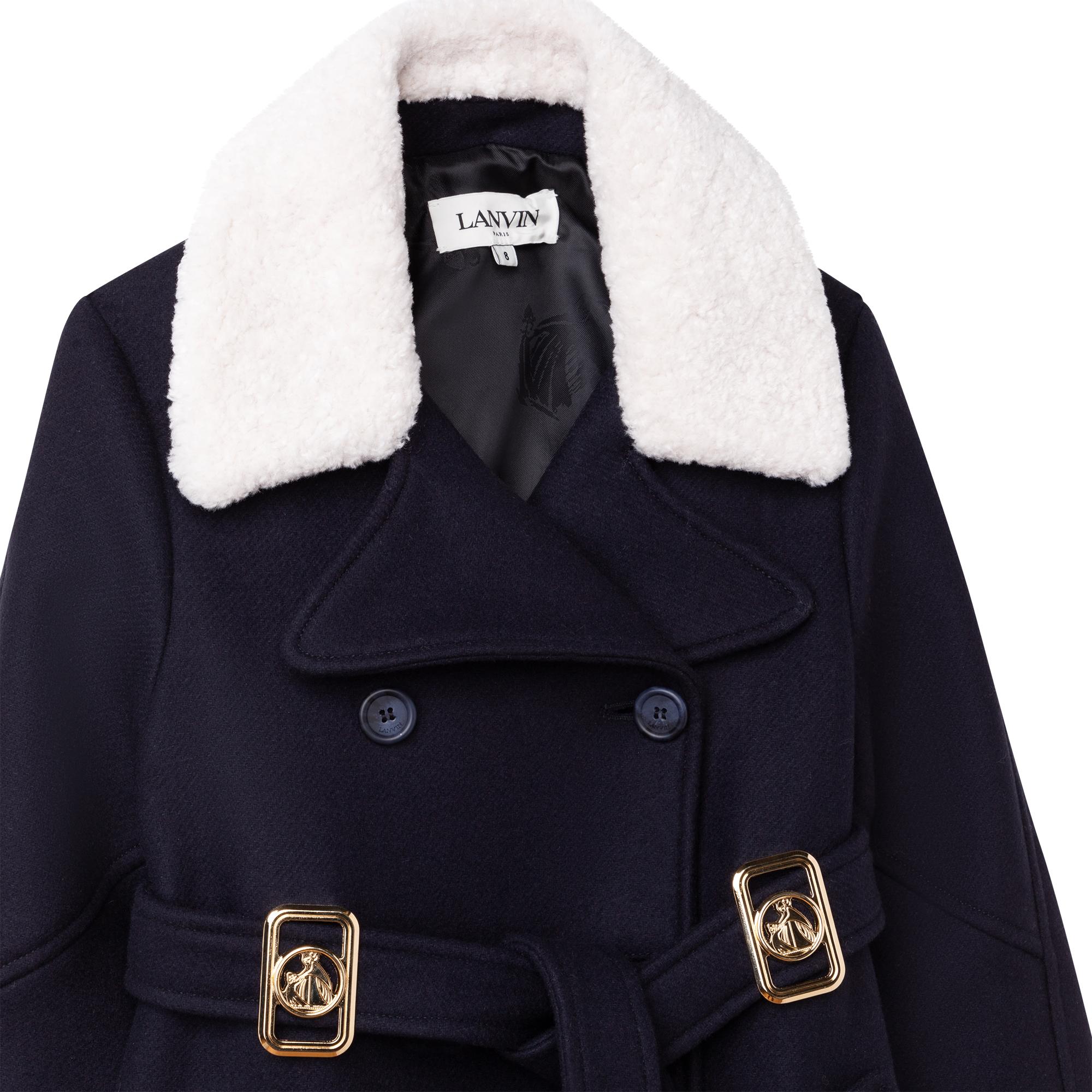 Manteau en drap de laine LANVIN pour FILLE