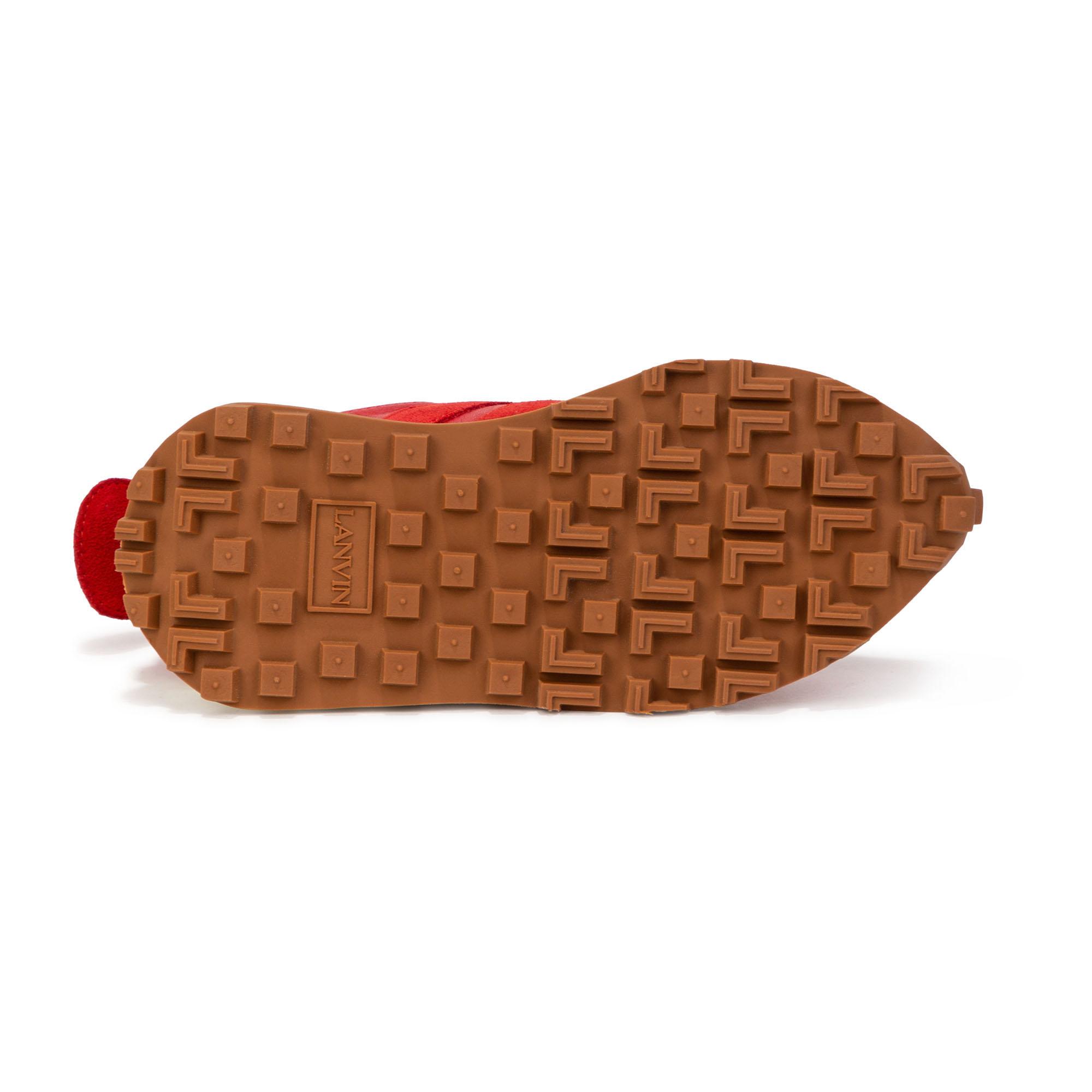 Baskets basses lacées en cuir LANVIN pour FILLE