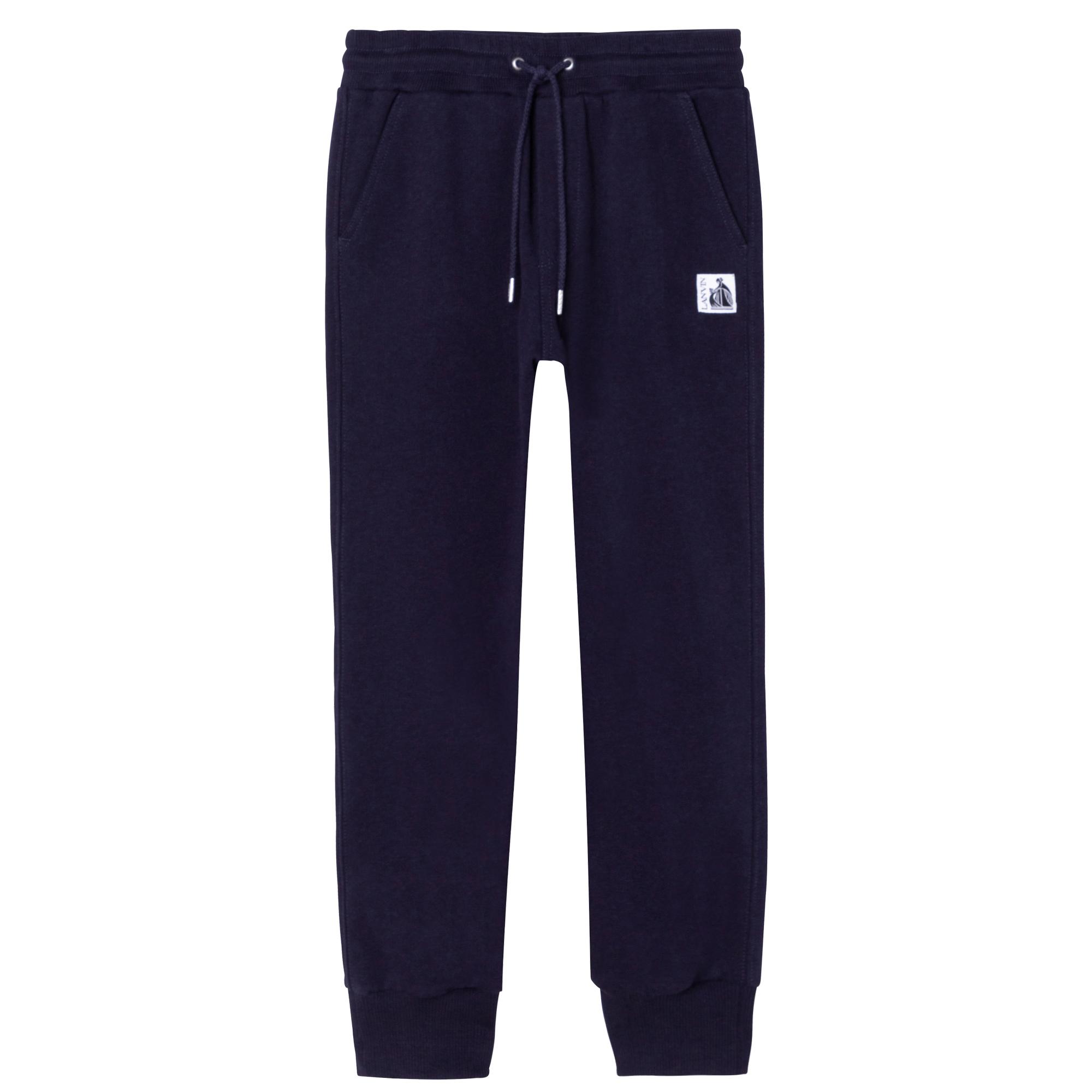 Pantalon de jogging en coton LANVIN pour GARCON