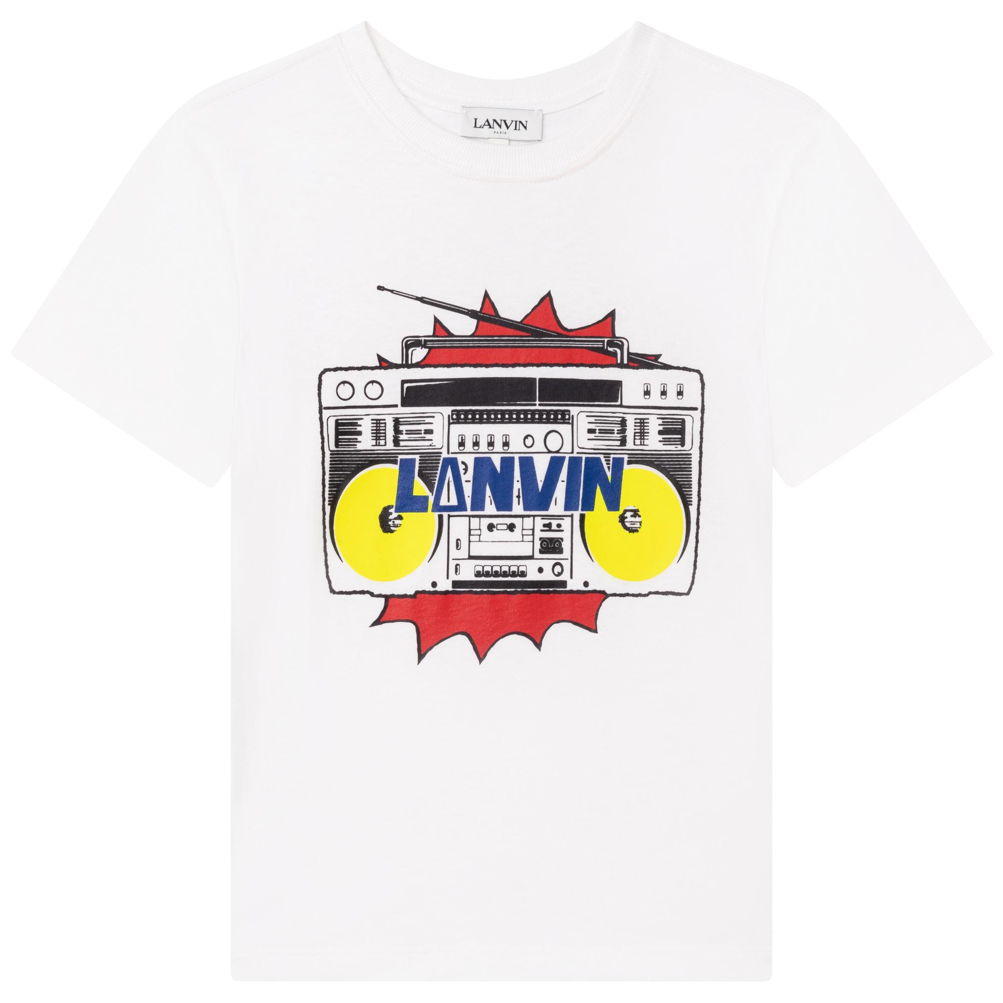 T-shirt jersey coton imprimé LANVIN pour GARCON