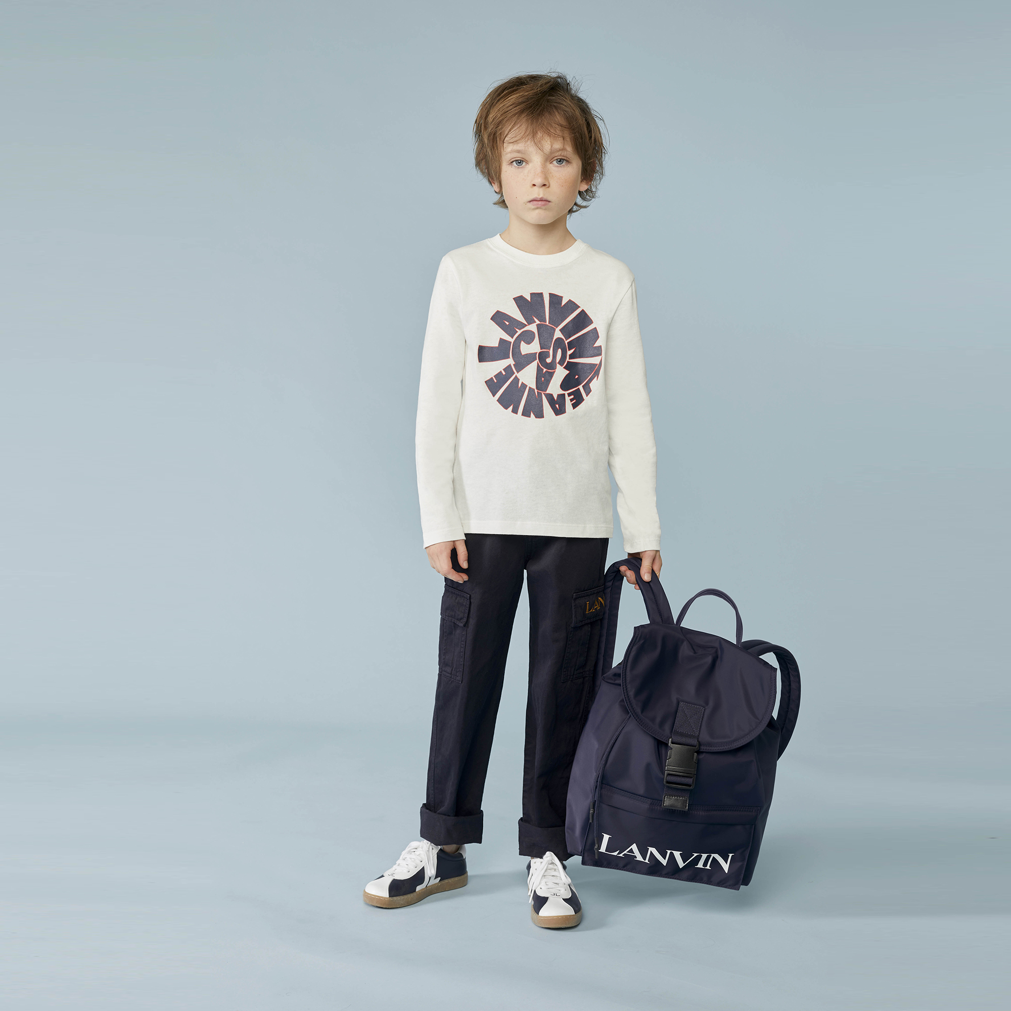 T-shirt imprimé jersey coton LANVIN pour GARCON