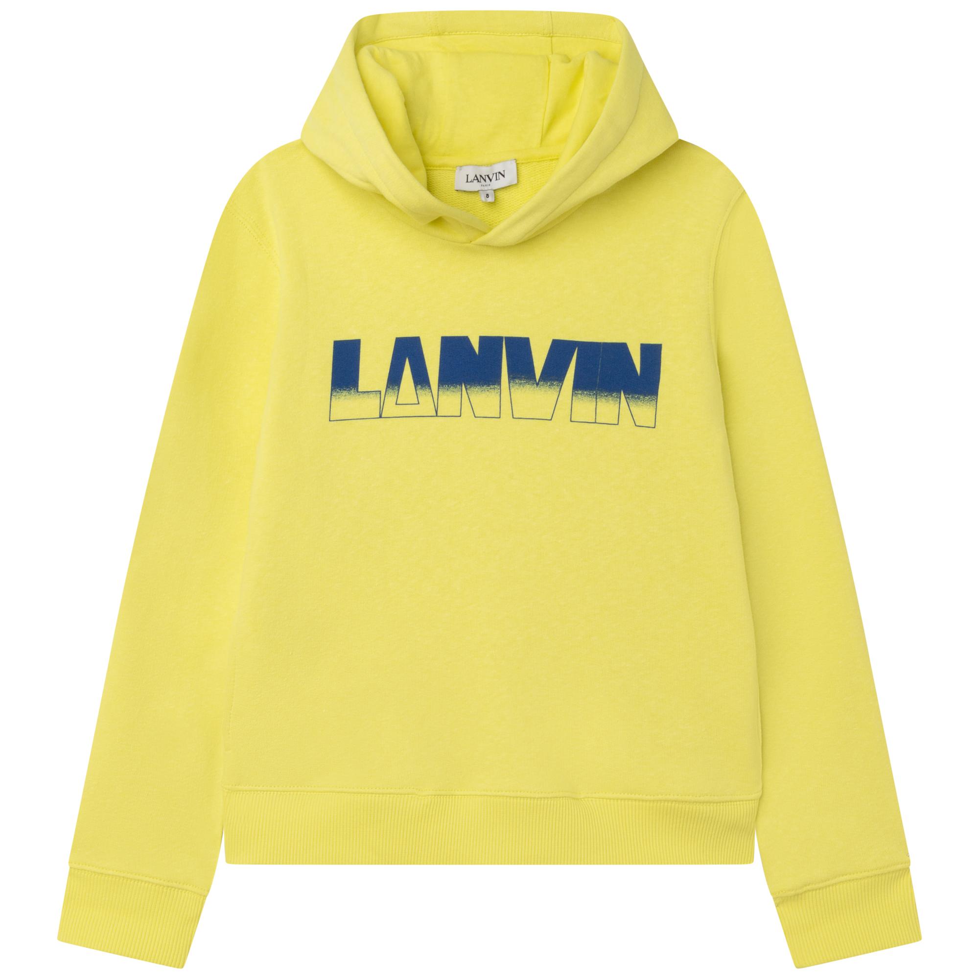 Sweat coton imprimé à capuche LANVIN pour GARCON