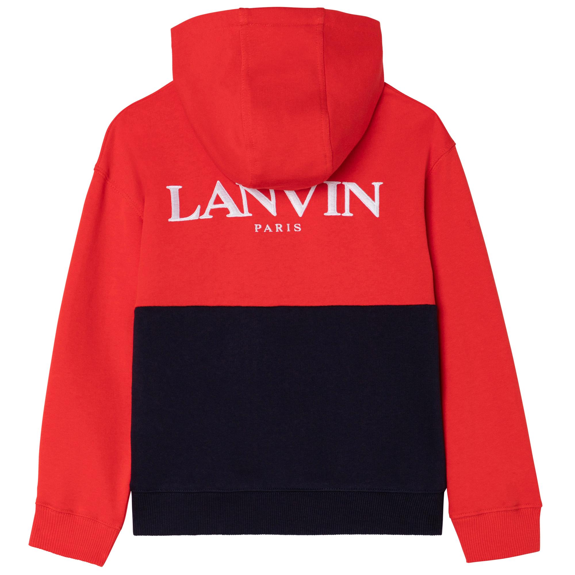 Cardigan à capuche zippé LANVIN pour GARCON