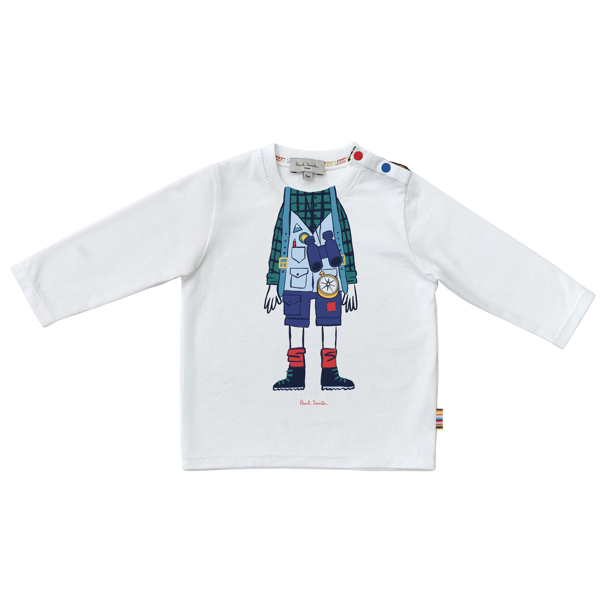 Printed organic cotton T-shirt PAUL SMITH JUNIOR for BOY