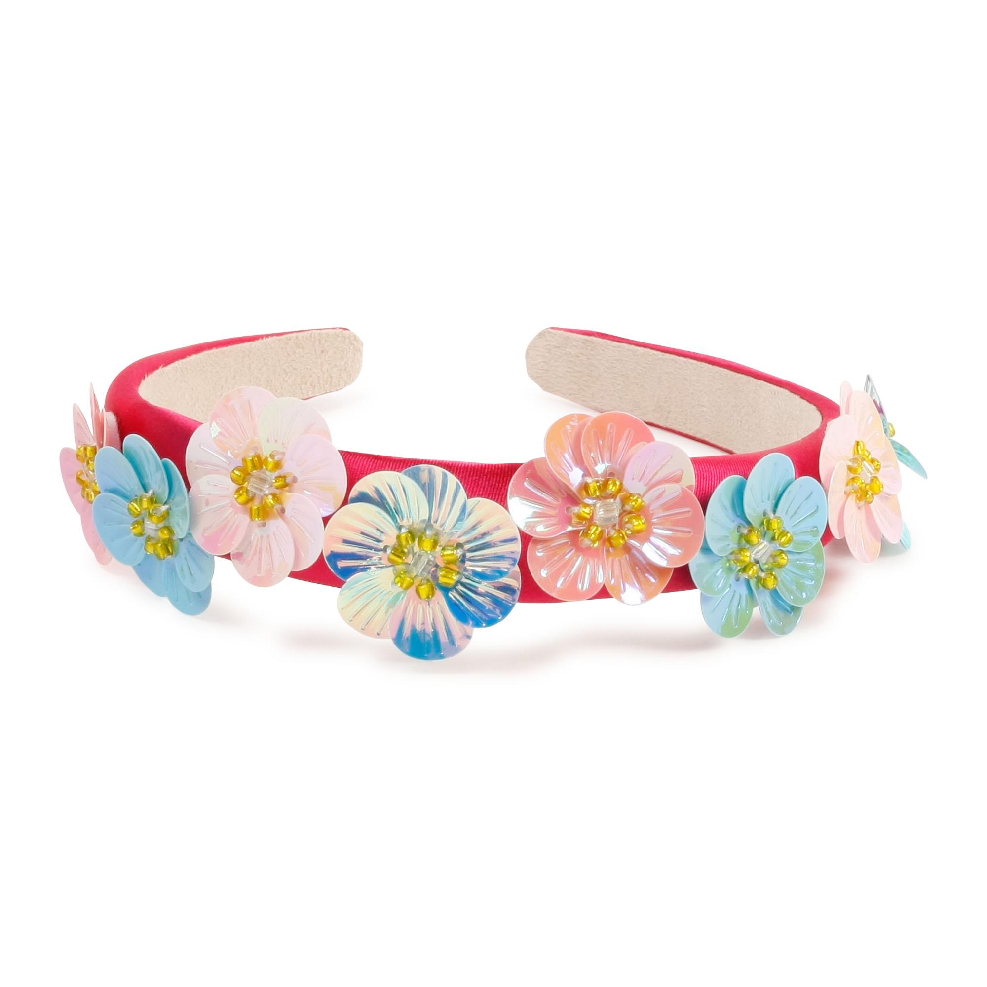 Serre-tête en satin à fleurs CHARABIA pour FILLE