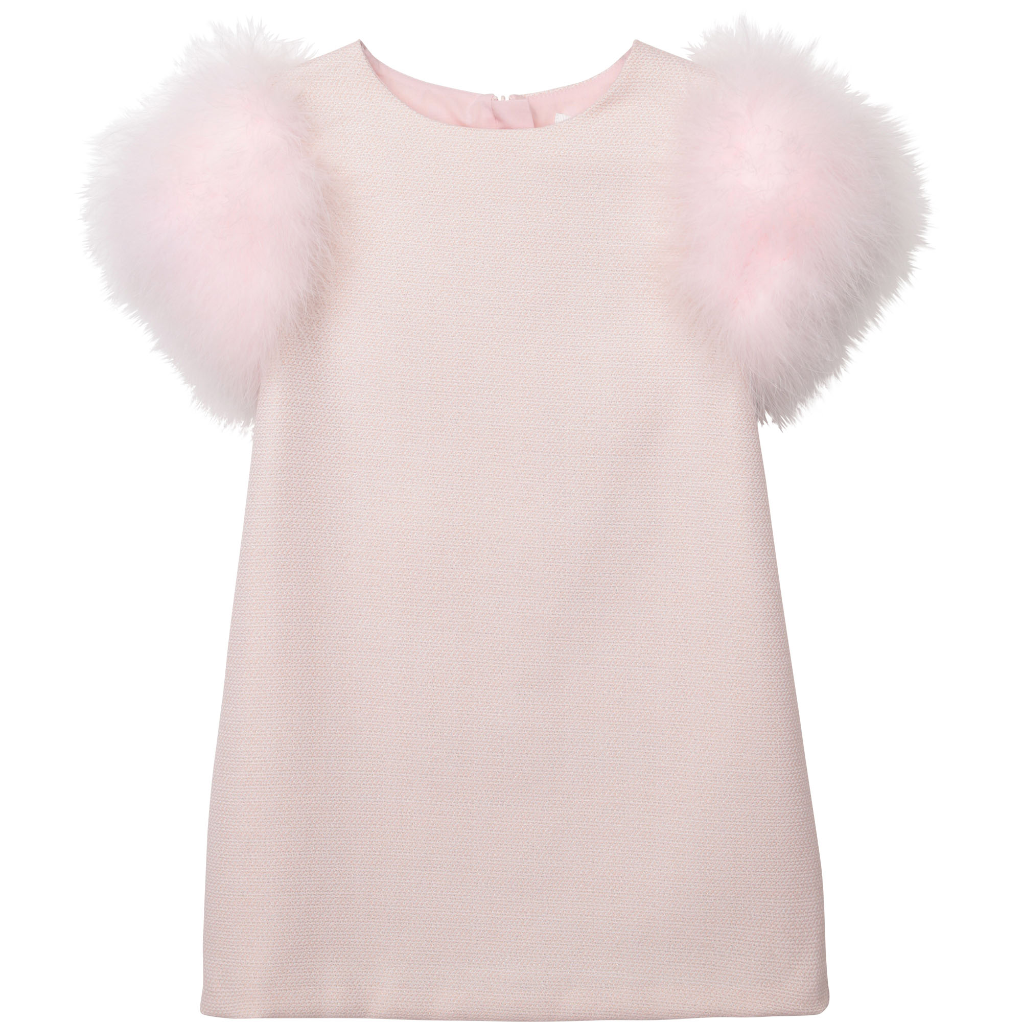Robe en tweed manches plumes CHARABIA pour FILLE