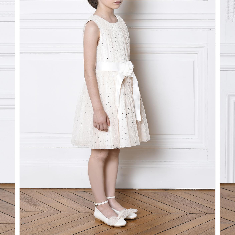 Sleeveless tulle dress CHARABIA for GIRL