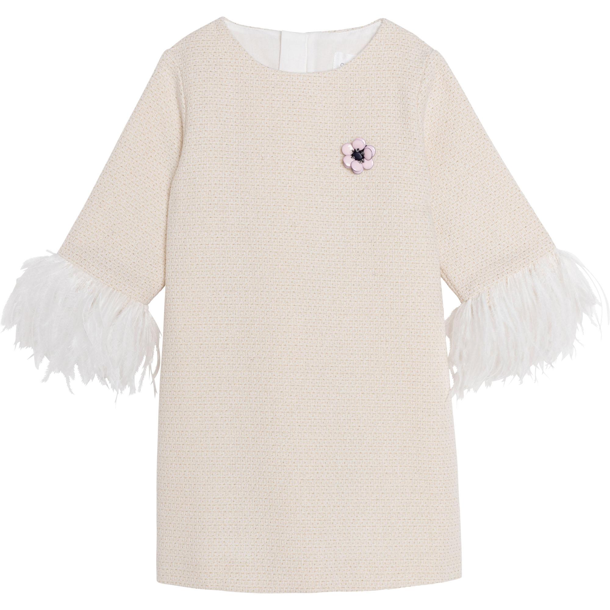 Metallic tweed dress CHARABIA for GIRL