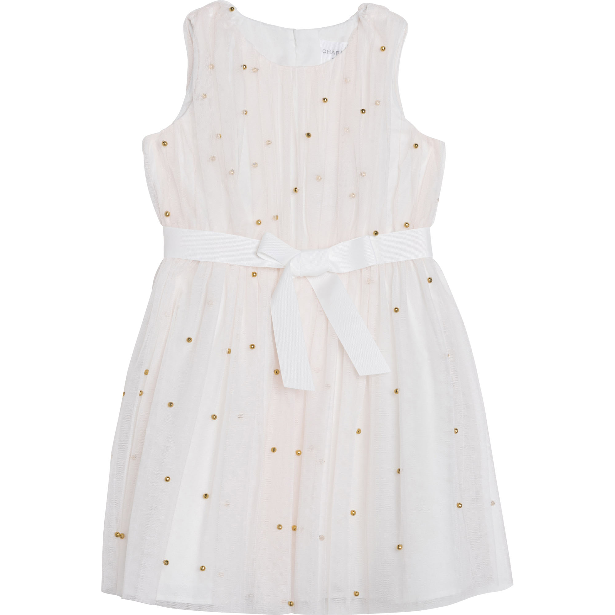 Tulle dress with pearls CHARABIA for GIRL