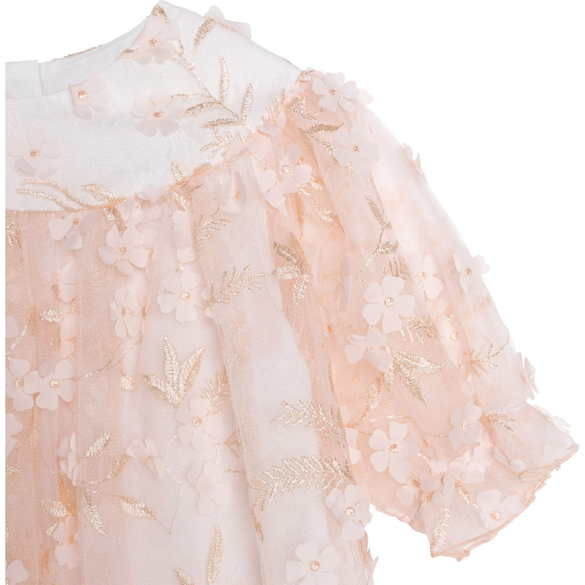 3D-flower lace dress CHARABIA for GIRL