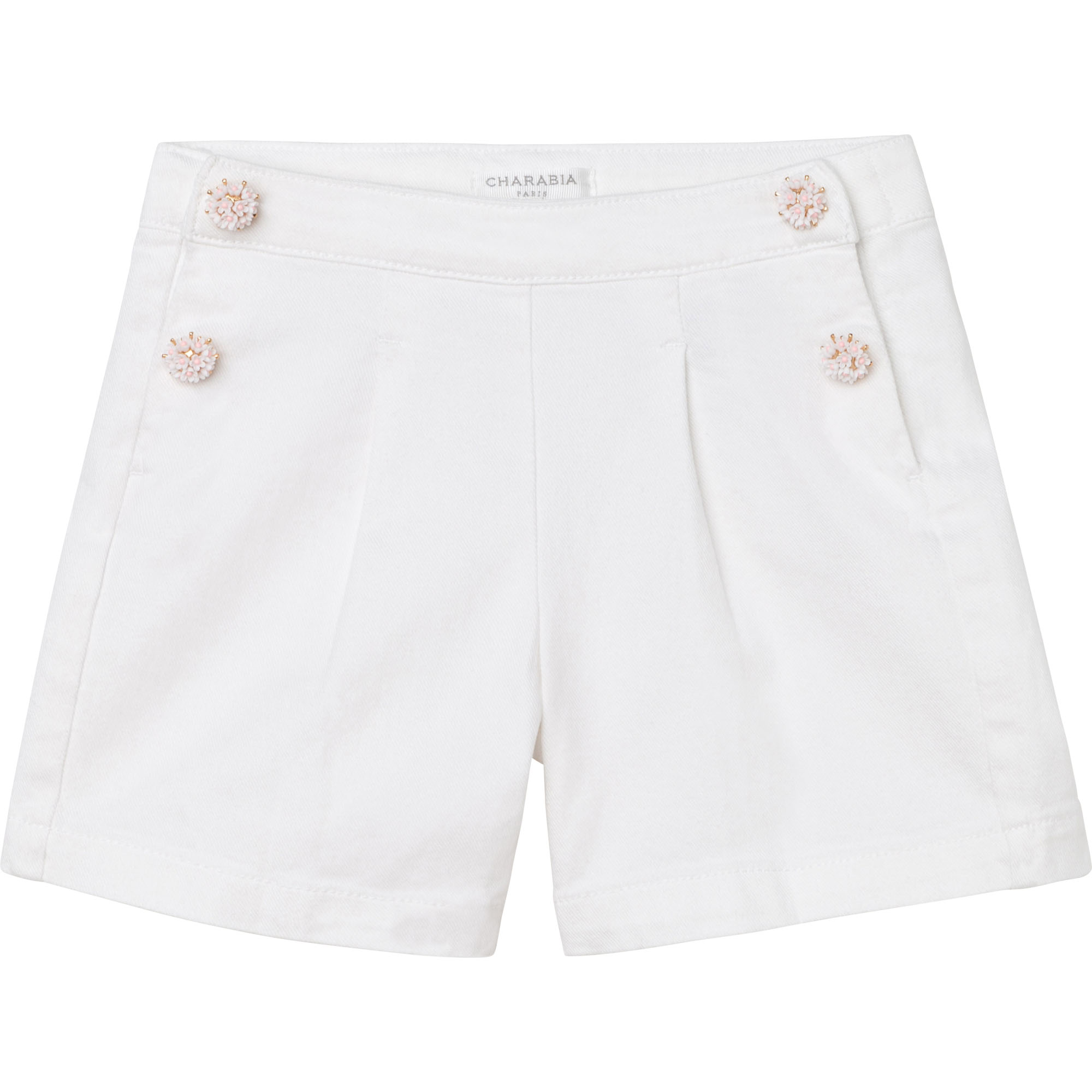Plain cotton denim shorts CHARABIA for GIRL