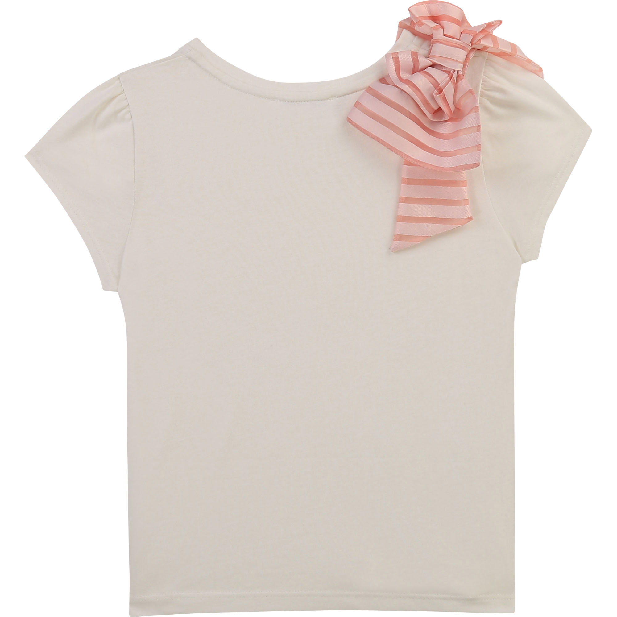 Interlock T-shirt with bow CHARABIA for GIRL