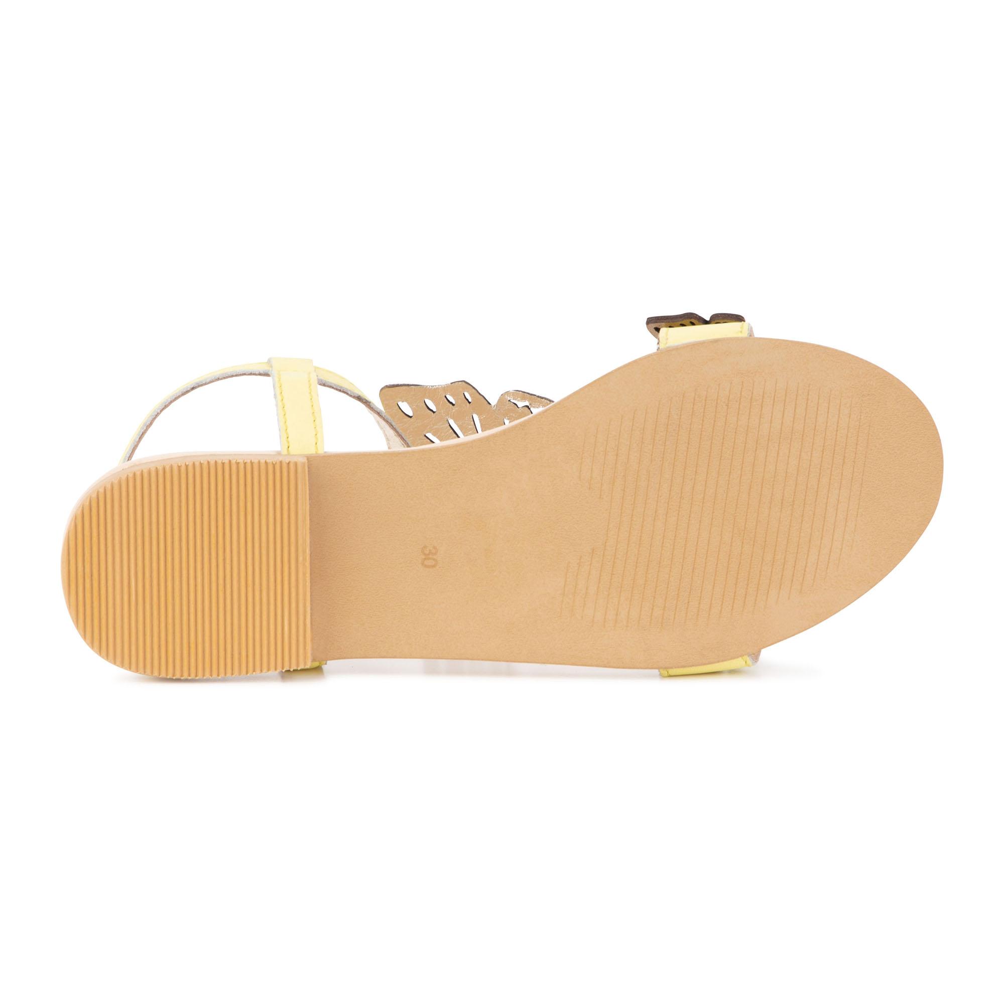 Sandales en cuir papillons à b CHARABIA pour FILLE