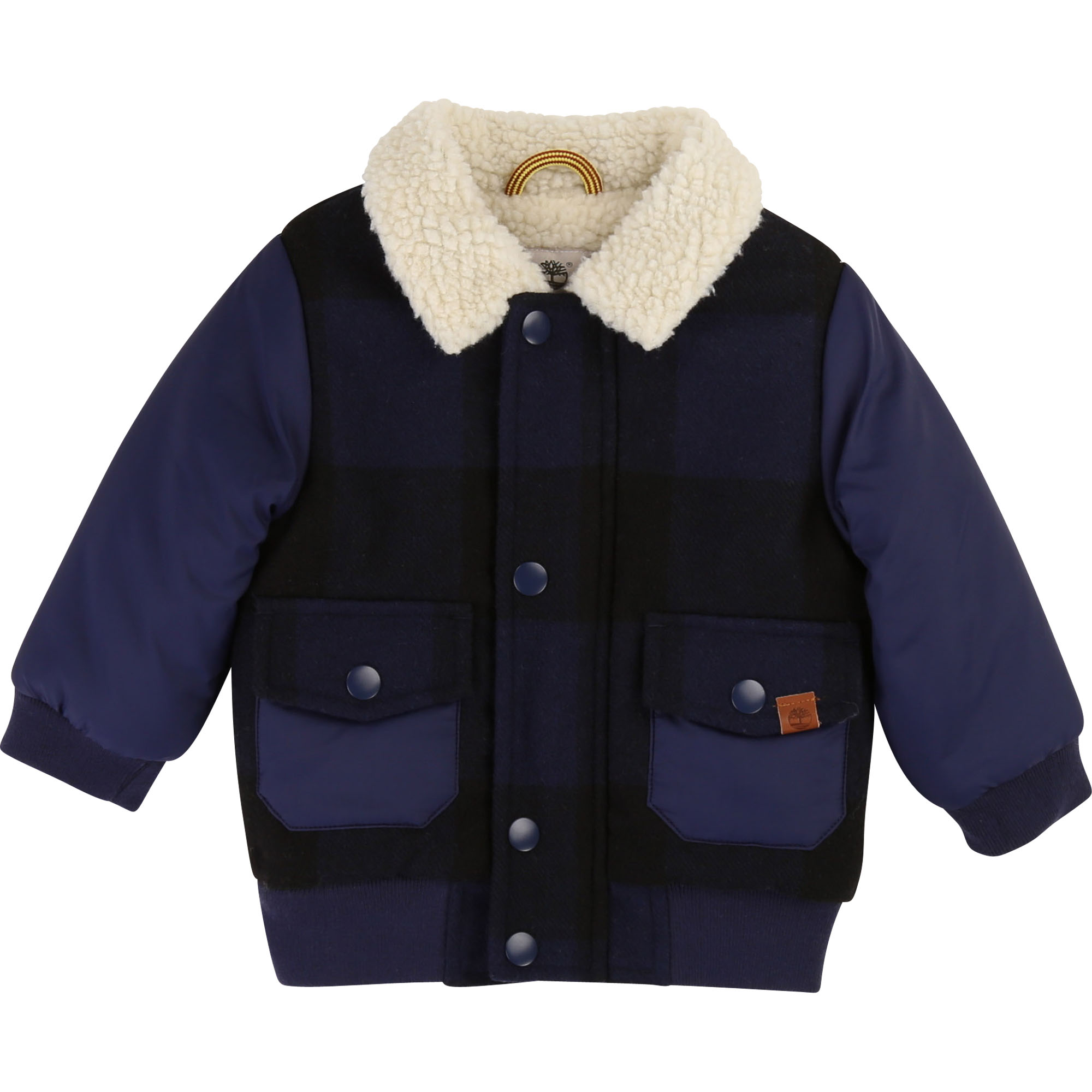 Mixed-fabric checked jacket TIMBERLAND for BOY