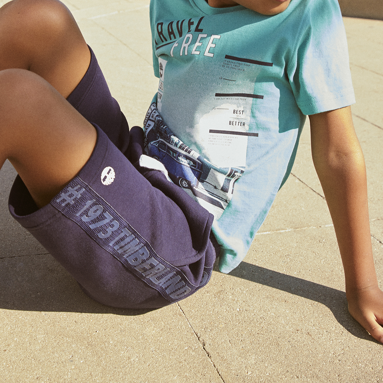 Bermuda shorts with side bands TIMBERLAND for BOY