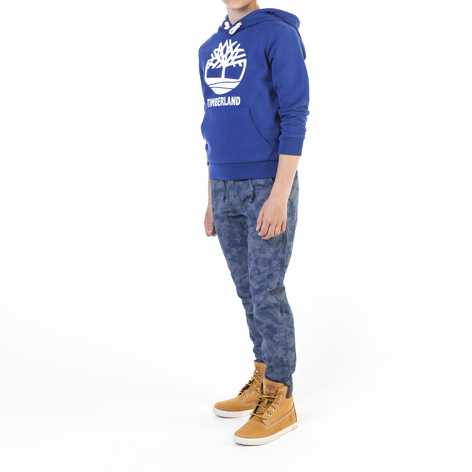 Hooded suede fleece sweatshirt TIMBERLAND for BOY