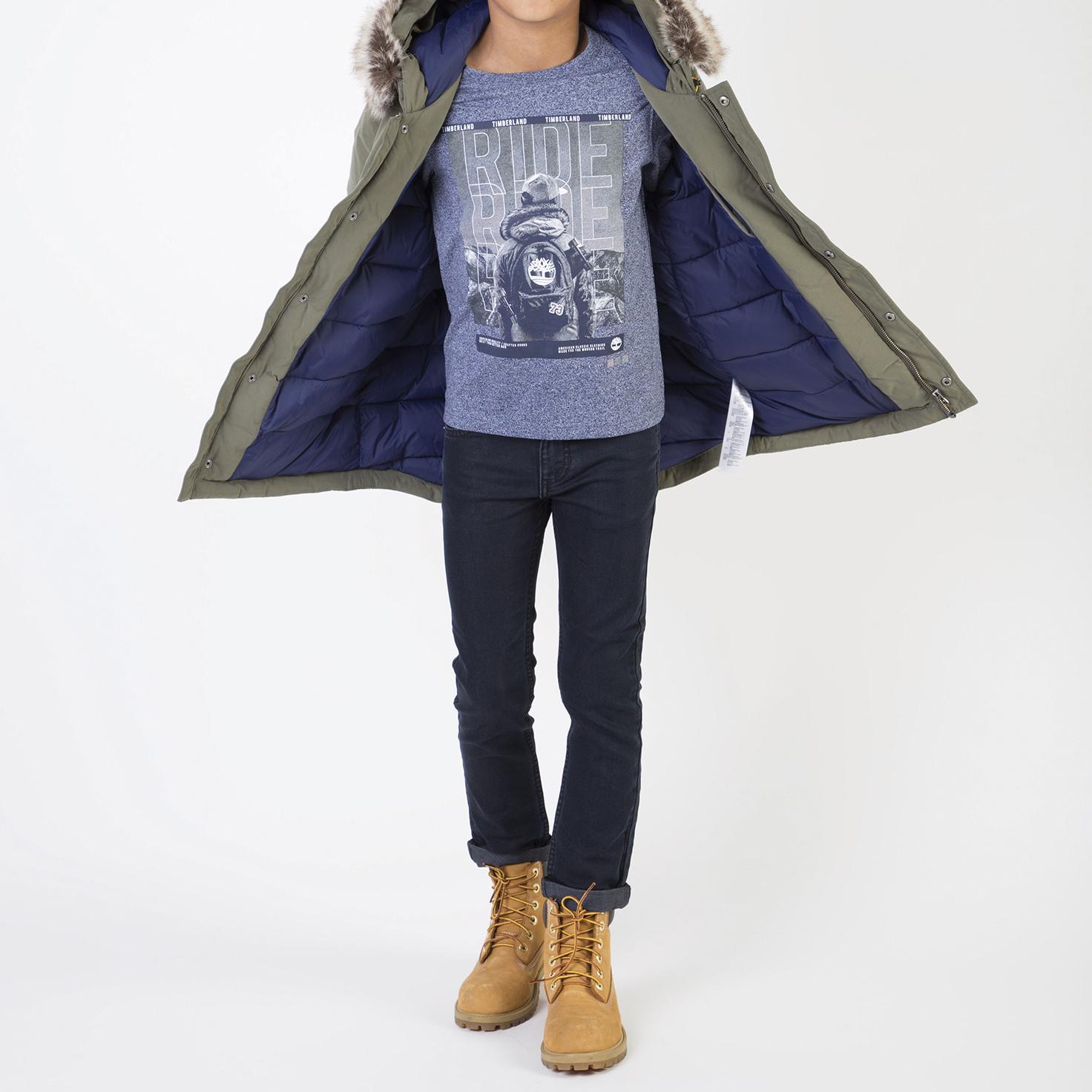 Camiseta de punto de algodón TIMBERLAND para NIÑO