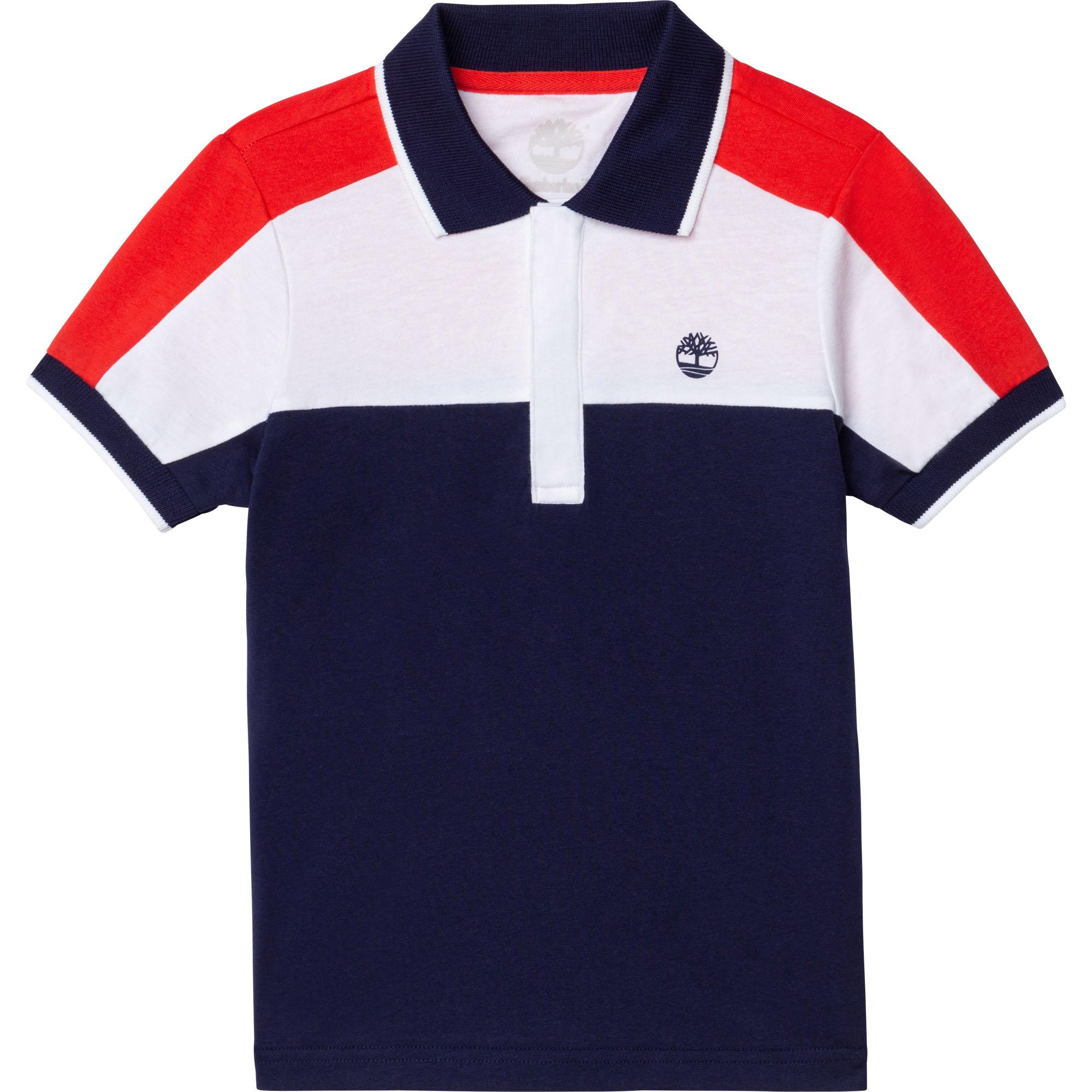 Polo en jersey de coton bio TIMBERLAND pour GARCON