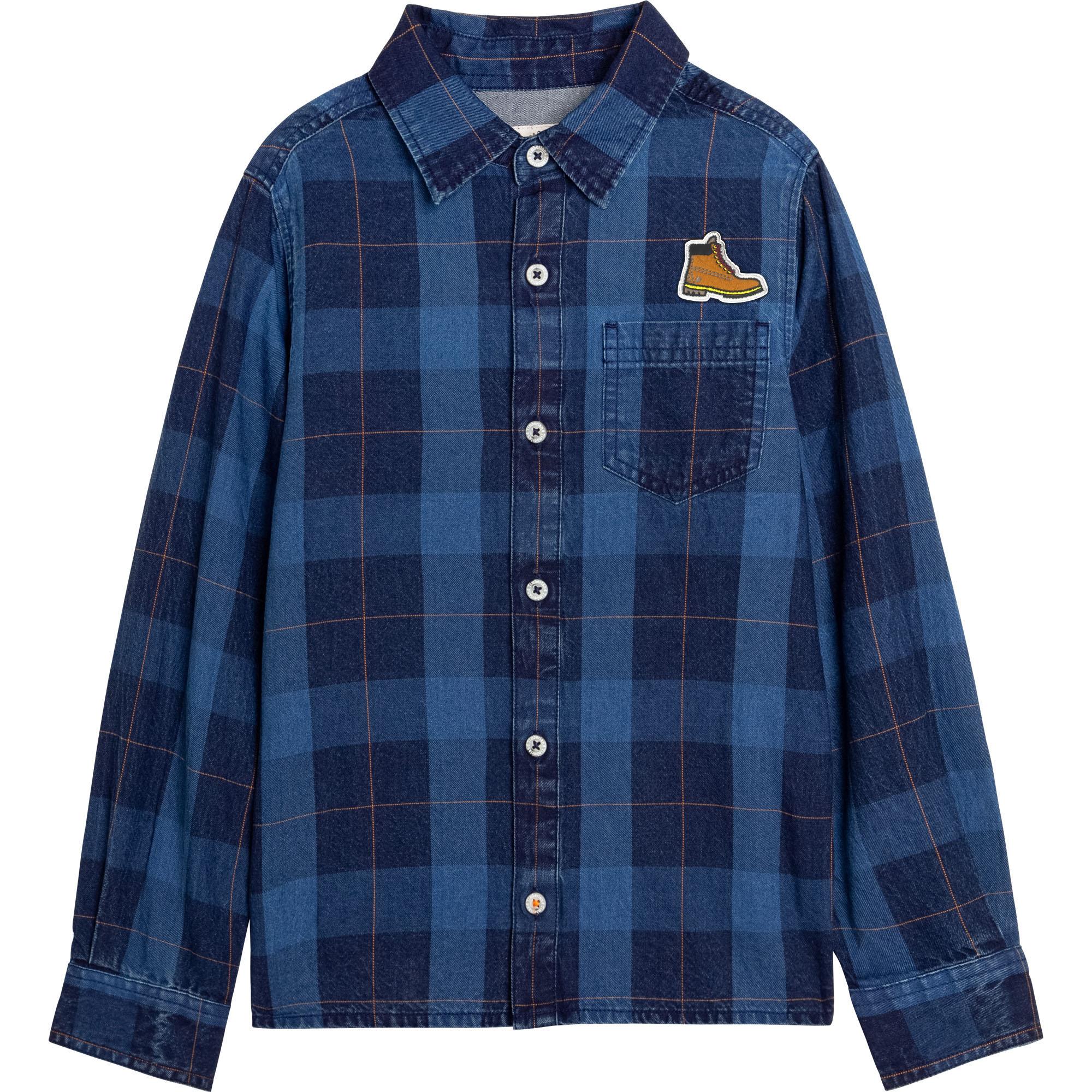 Camisa de sarga de algodón TIMBERLAND para NIÑO