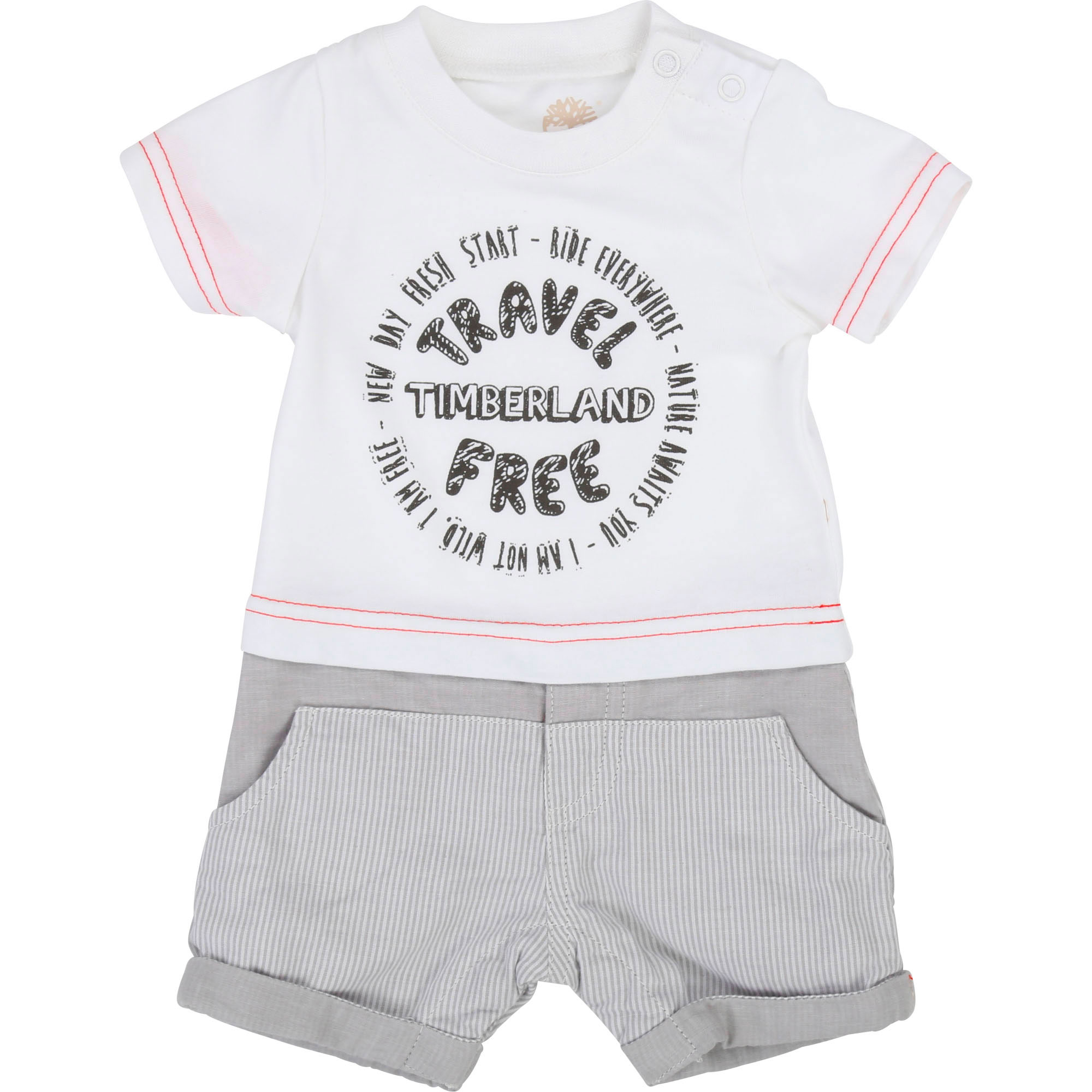 Dual-material romper TIMBERLAND for BOY