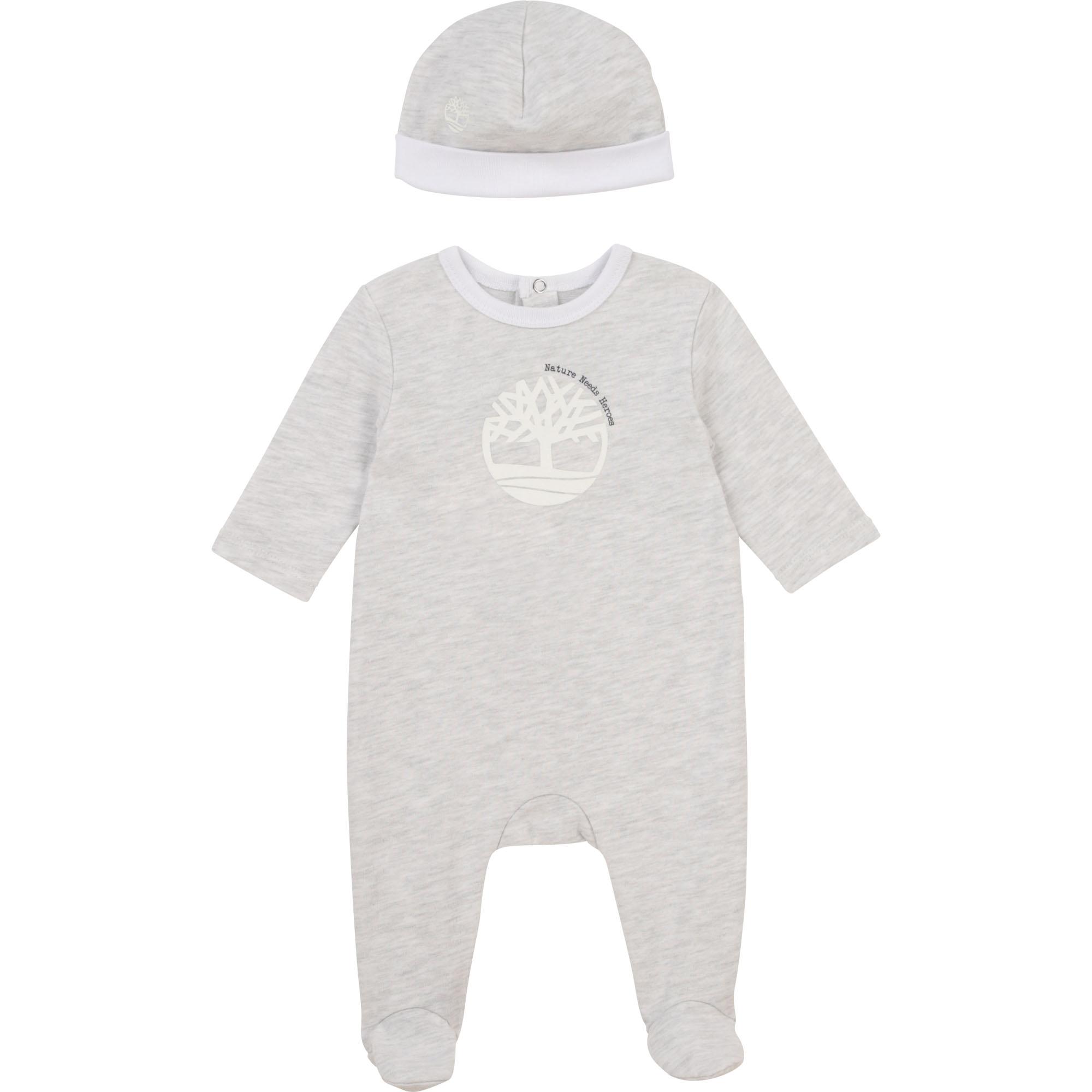 Ensemble pyjama et bonnet en coton biologique TIMBERLAND pour GARCON