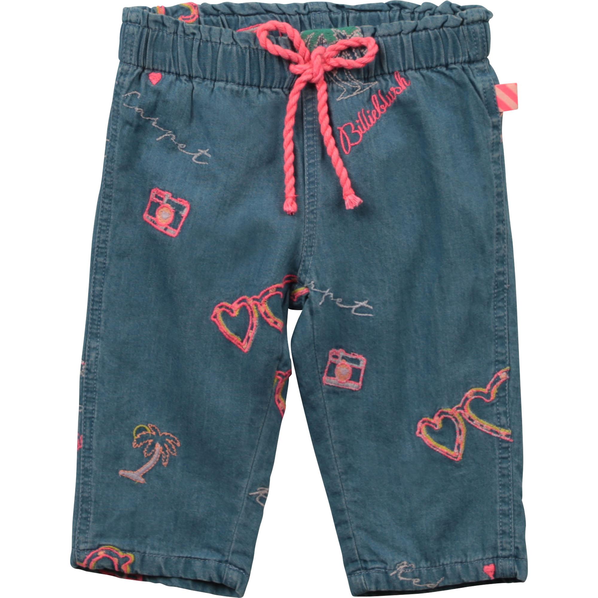 Embroidered denim pants BILLIEBLUSH for GIRL