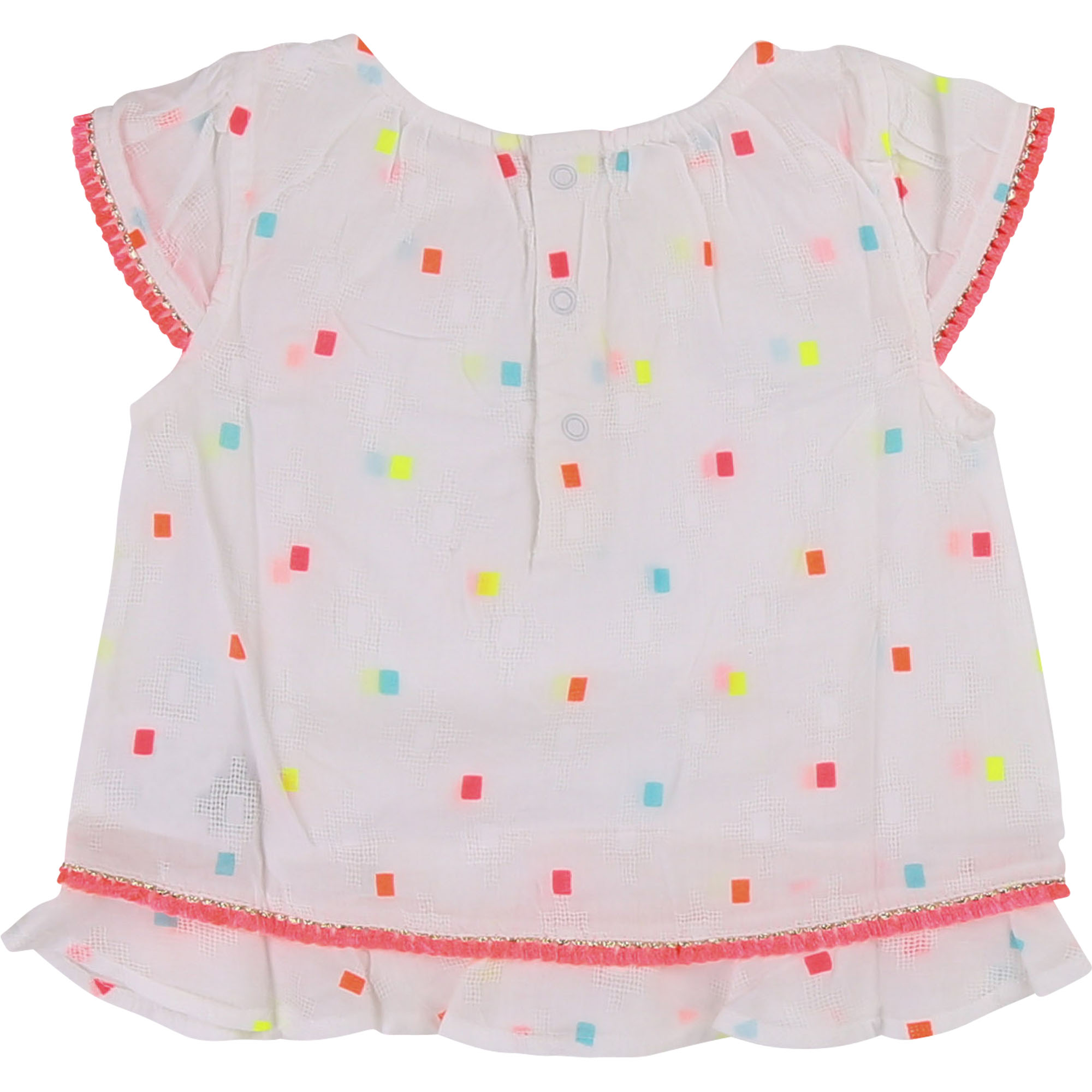 Square pattern cotton blouse BILLIEBLUSH for GIRL