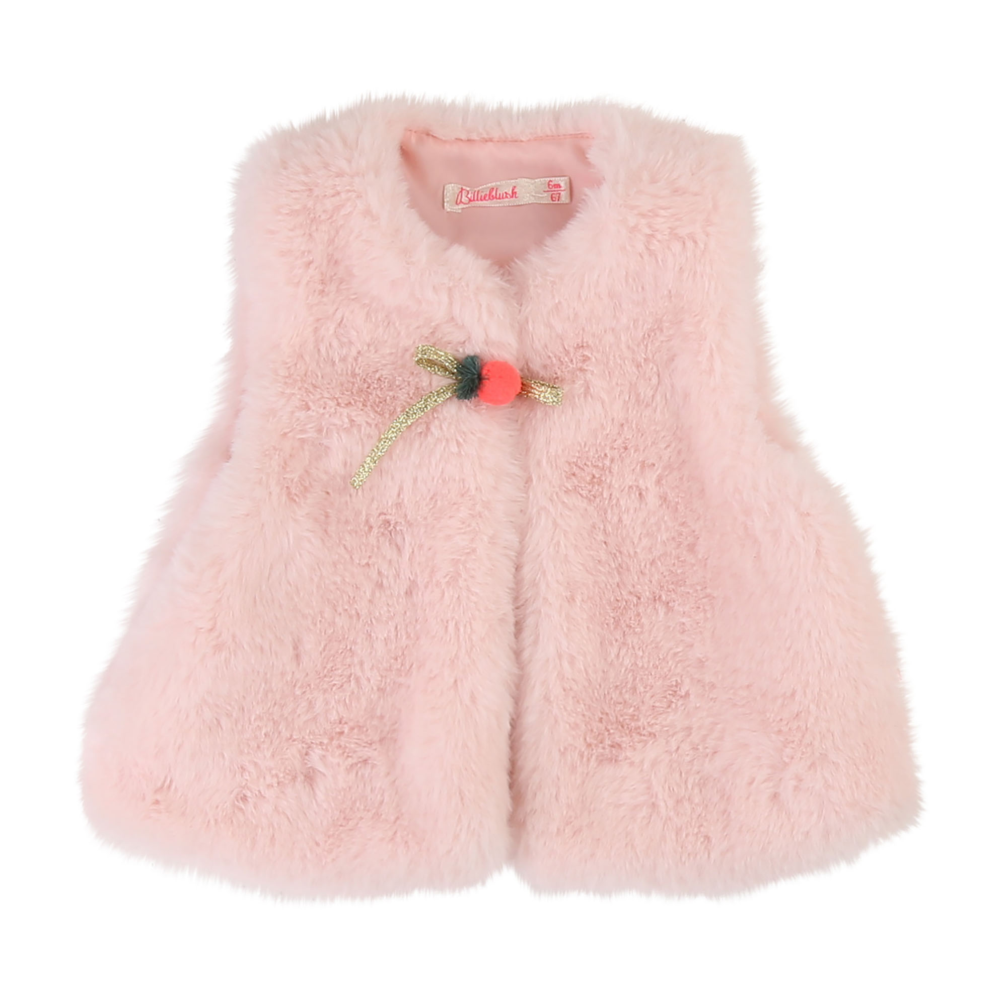 Furry sleeveless cardigan BILLIEBLUSH for GIRL