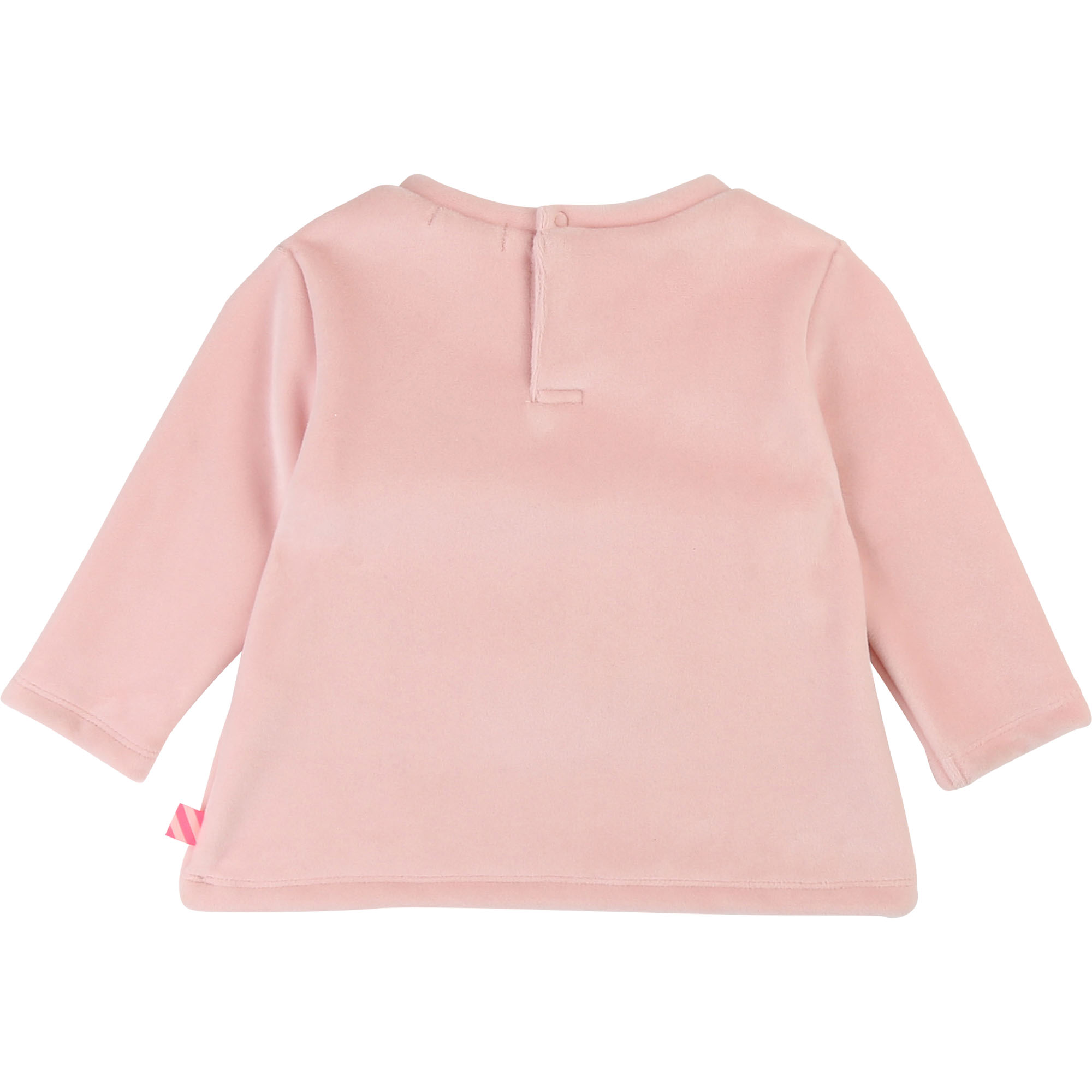 Sweat molleton velours à patch BILLIEBLUSH pour FILLE