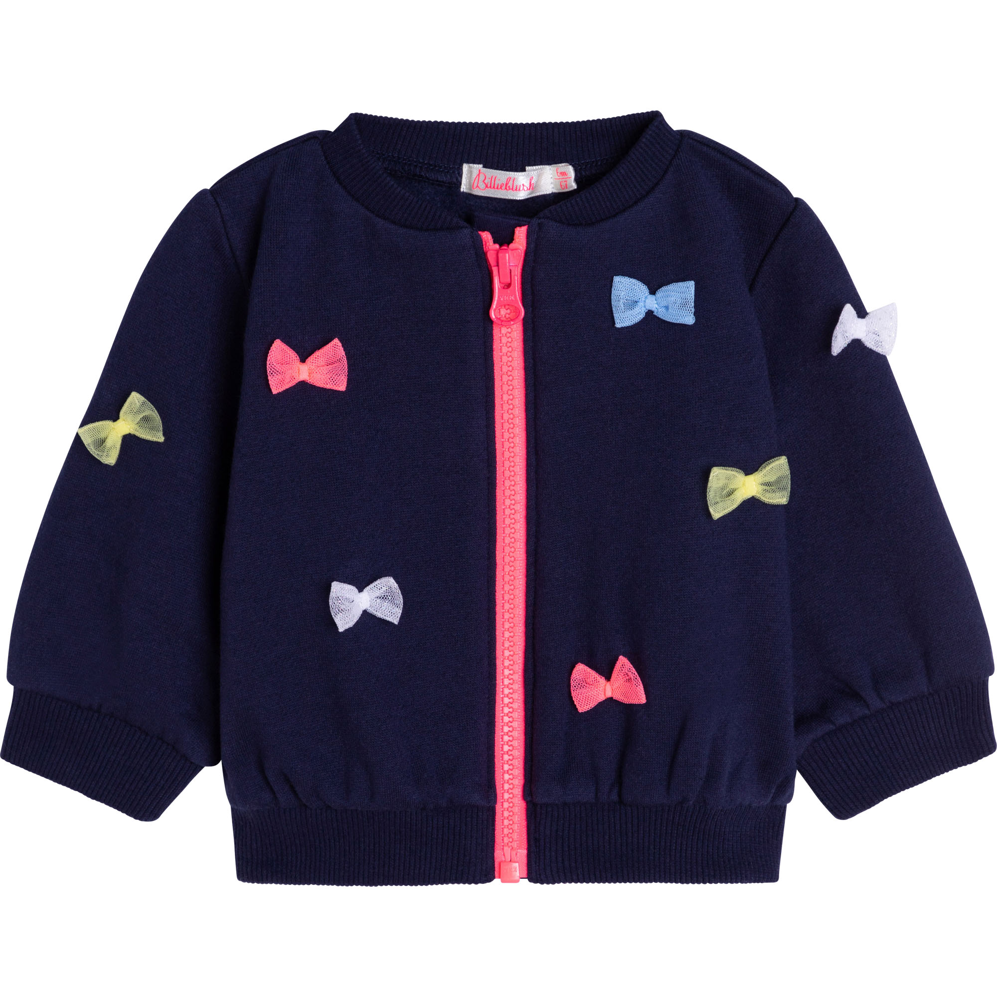 Zipped fleece sweatshirt with bows BILLIEBLUSH for GIRL