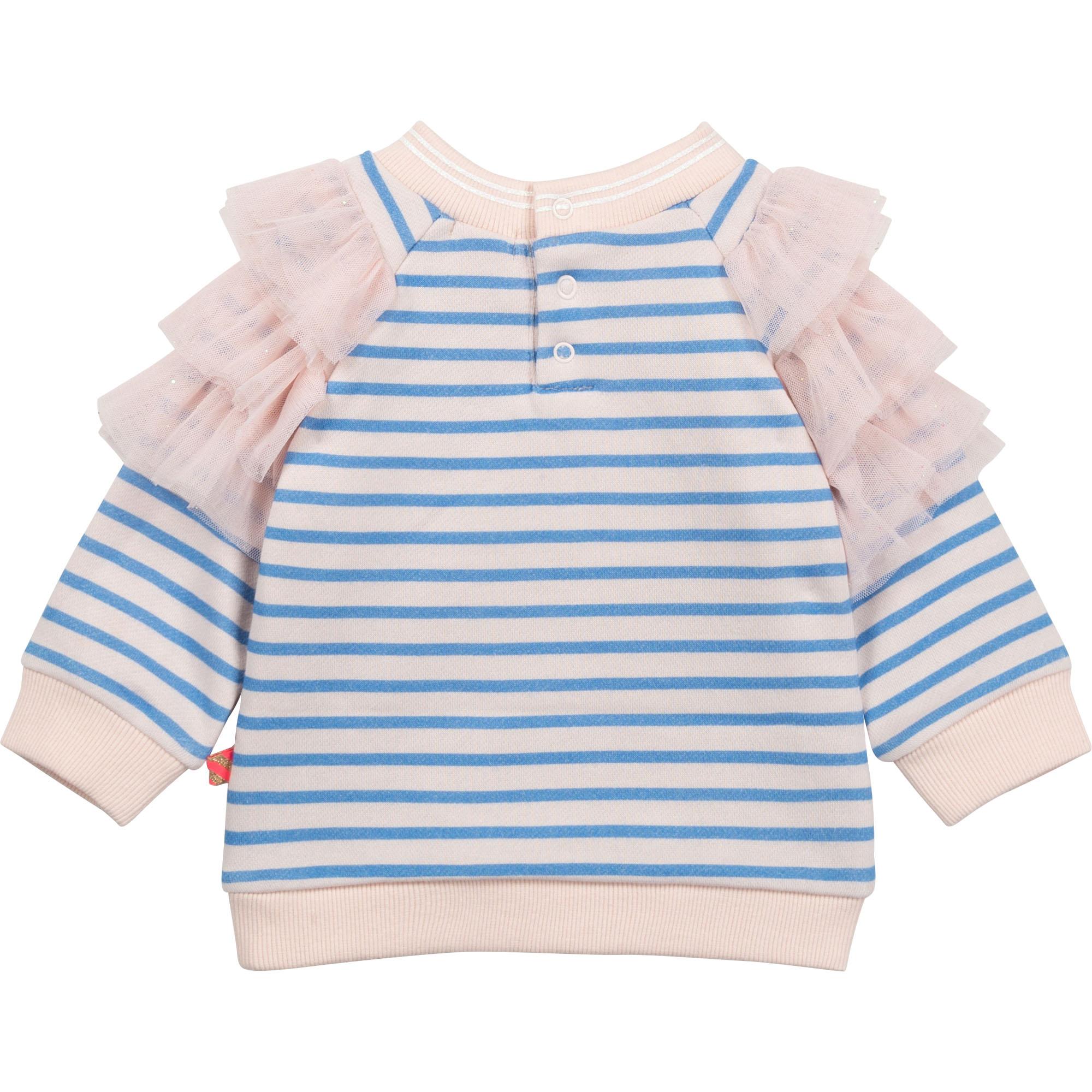 Striped sweatshirt with frills BILLIEBLUSH for GIRL